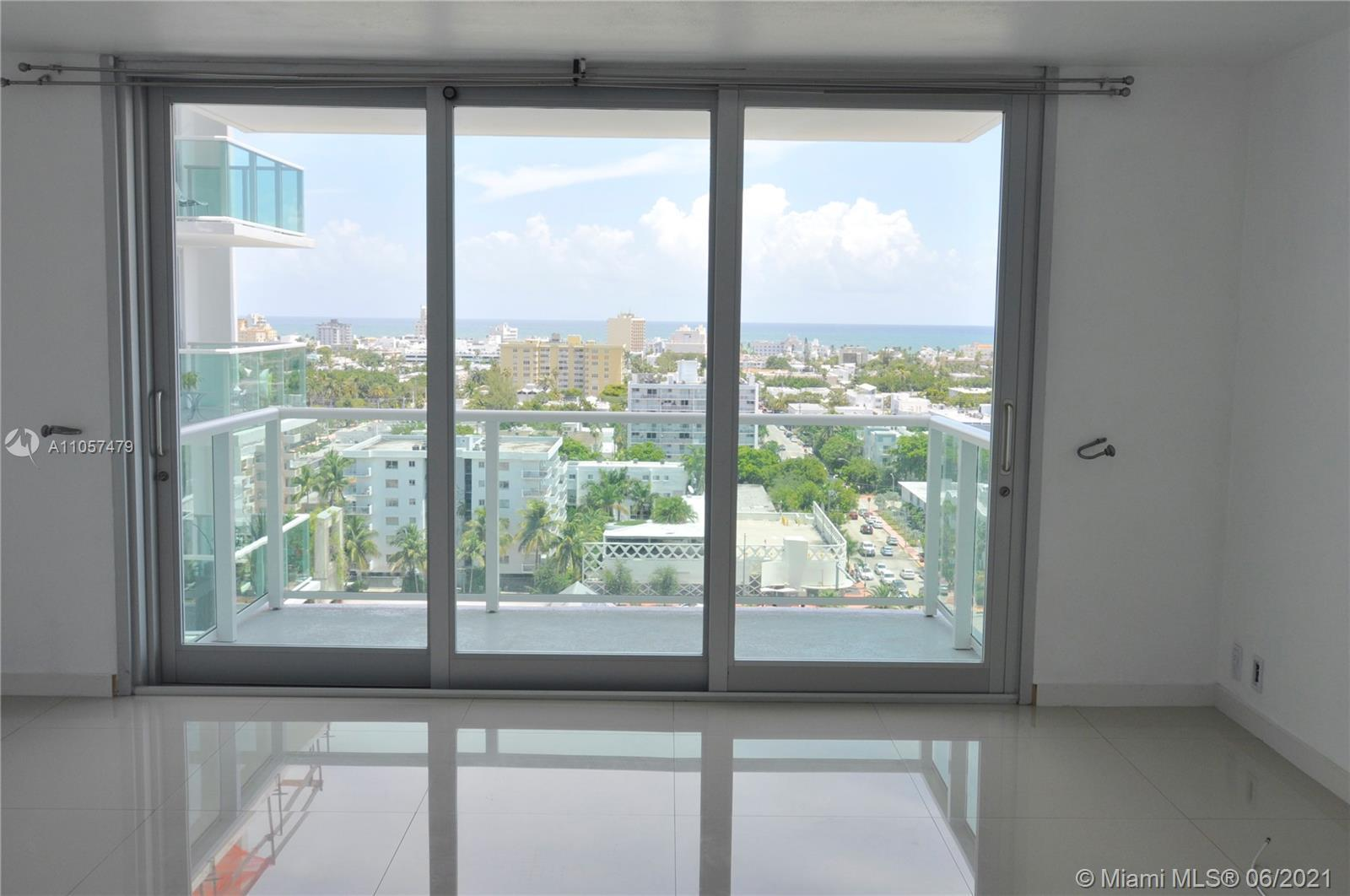 Large Studio with Balcony and a Stunning views of South Beach and the Beach. The unit offers large p