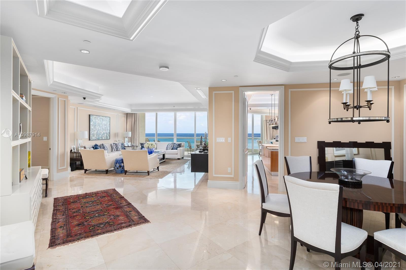Spectacular unit with unobstructed ocean and intracoastal views; located at the prestigious Turnberr
