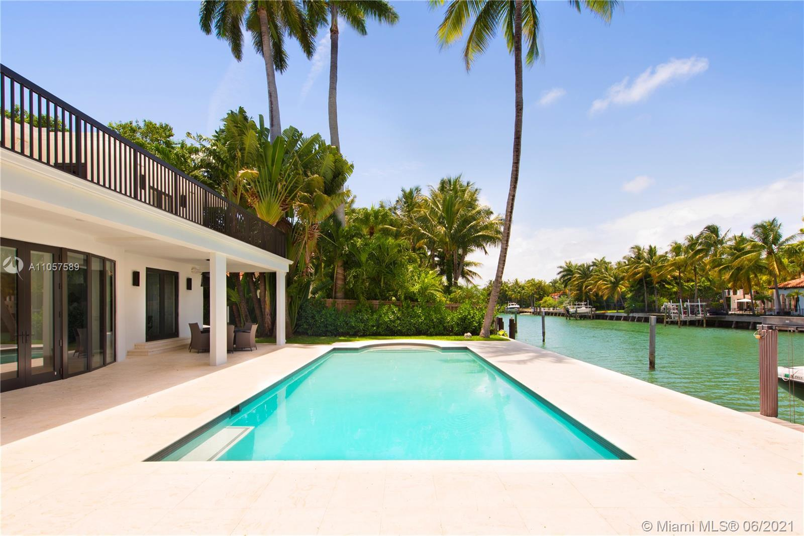 Located in the highly exclusive Sunset Island, this impeccably designed waterfront is your next turn