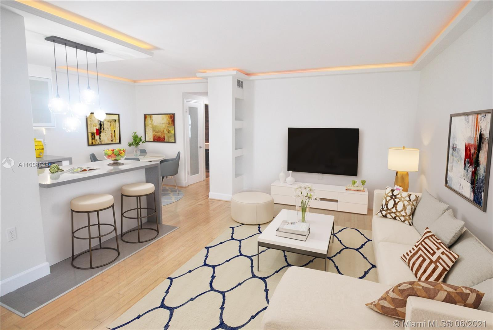 Large 1 Bedroom + Den and 1.5 Bath in the heart of South Beach. Bright and quiet unit with lots of c