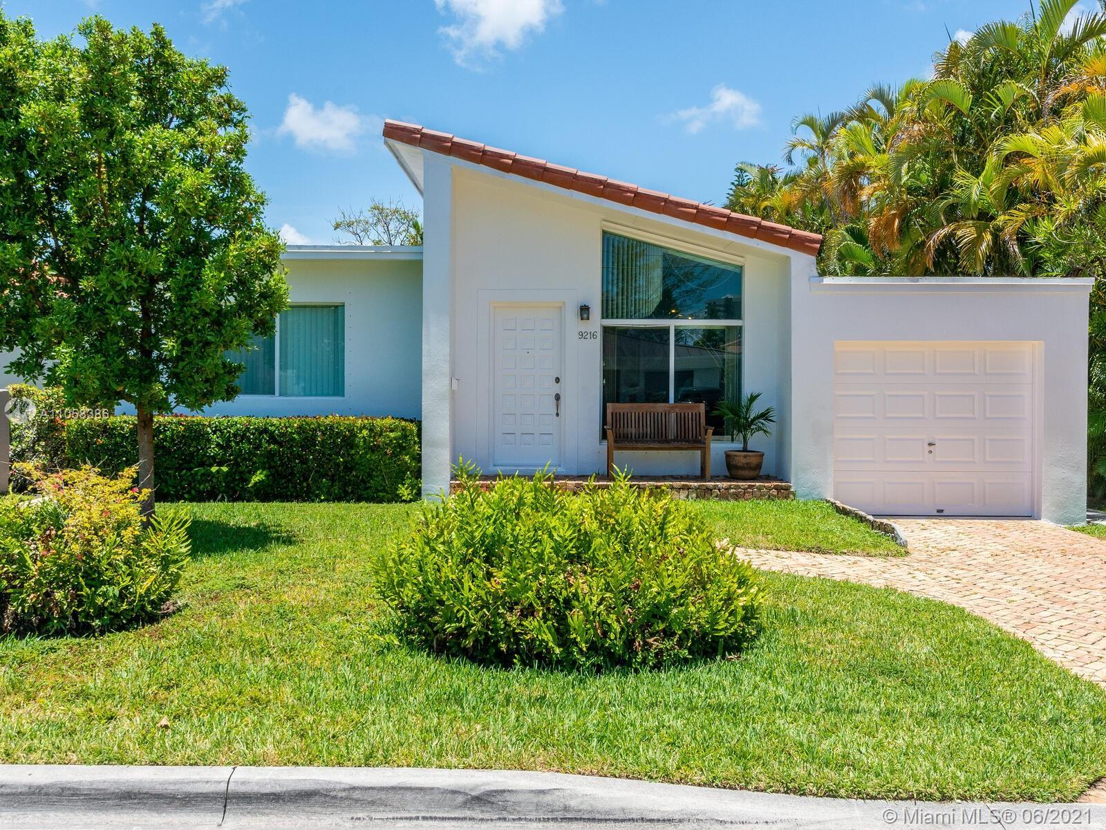 Walk to the beach from this 4/2 charming Miami Beach mid-century home. Ideally located in the desira
