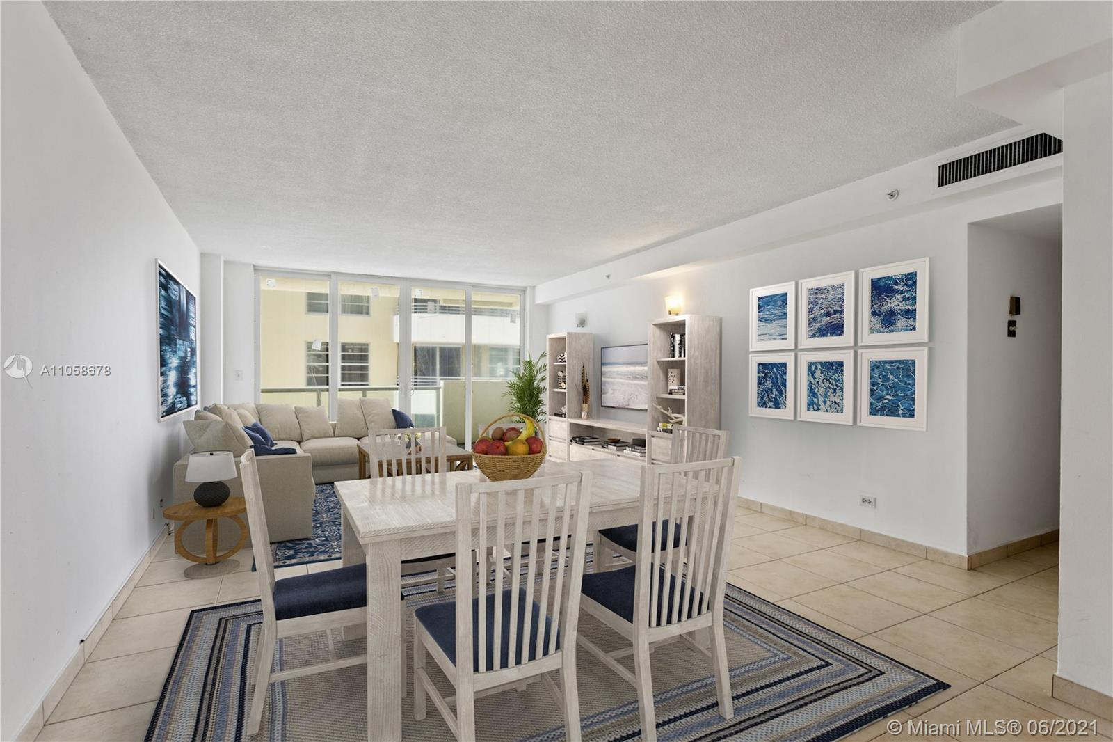 Live on Millionaire's row in an ocean front building with beach access at the Pavilion.  Large main