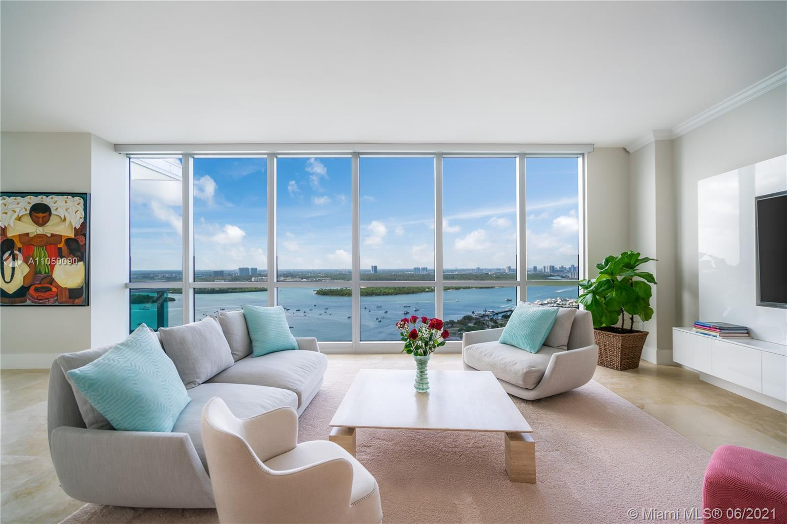 Stunning high-floor corner residence with private elevator and floor-to-ceiling windows. Enjoy breat