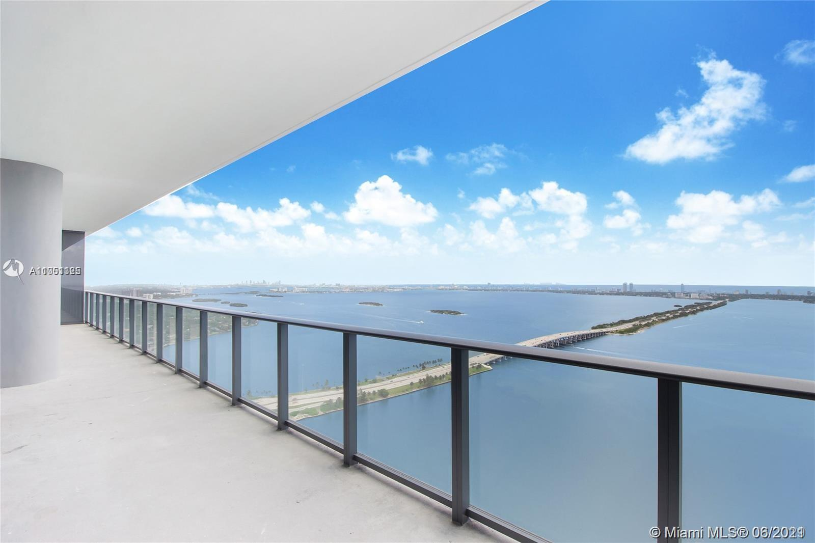 Stunning PH with unobstructed views of the bay, Miami Beach and downtown Miami from this 4 bedroom,