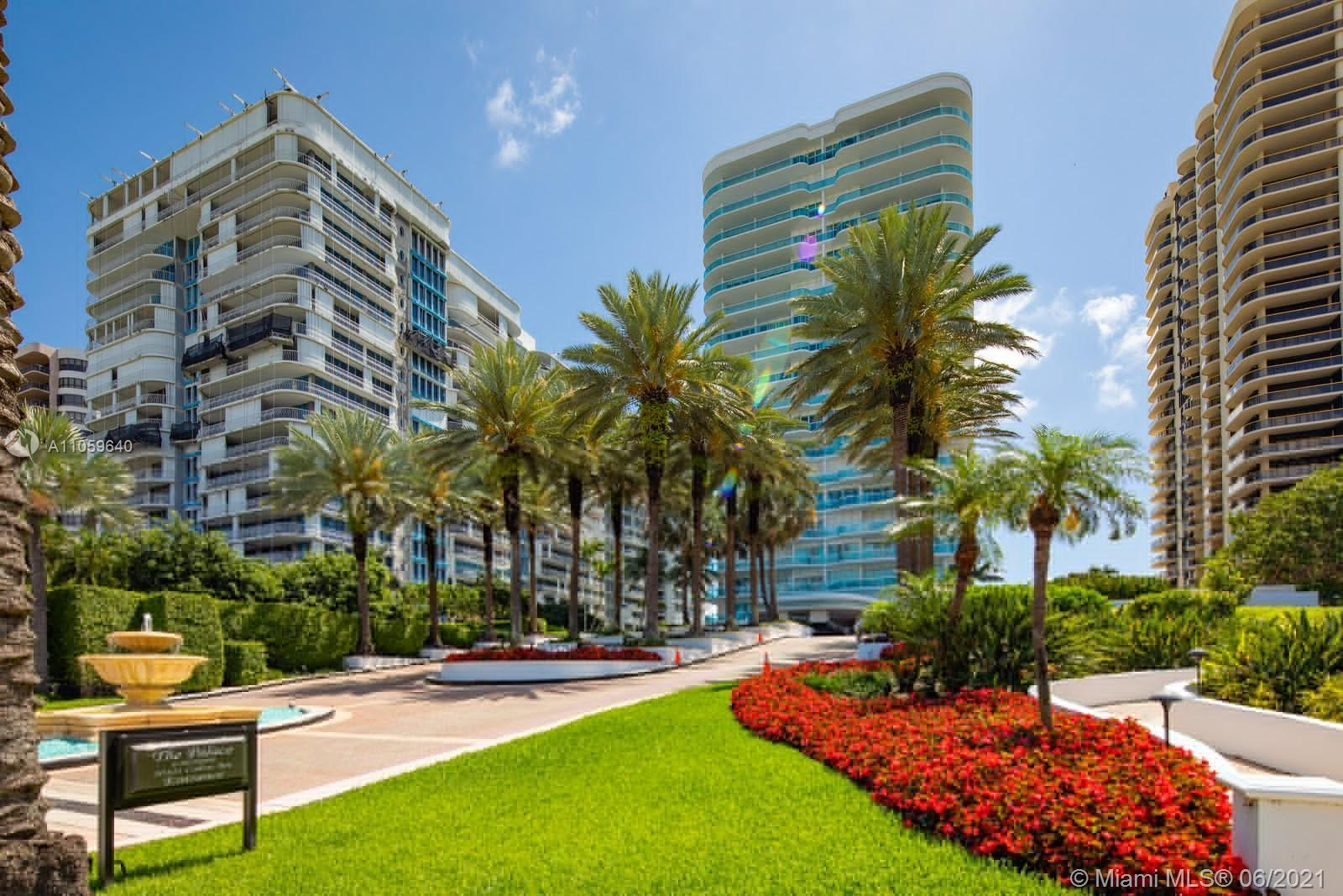 THE PALACE CONDO IN EXCLUSIVE BAL HARBOUR - GREAT OCEAN AND BAY VIEWS FROM THIS 2 BEDROOM, 2 1/2 BAT