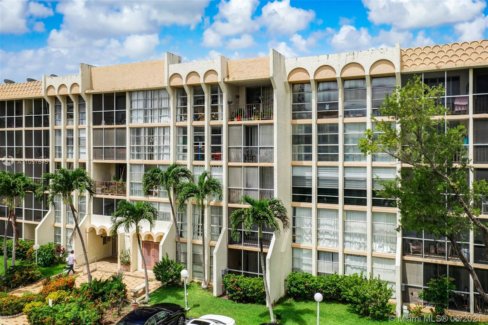 Enjoy the relaxing canal view from this spacious condo at DeSoto Park in Hallandale.  Large 2/2 with