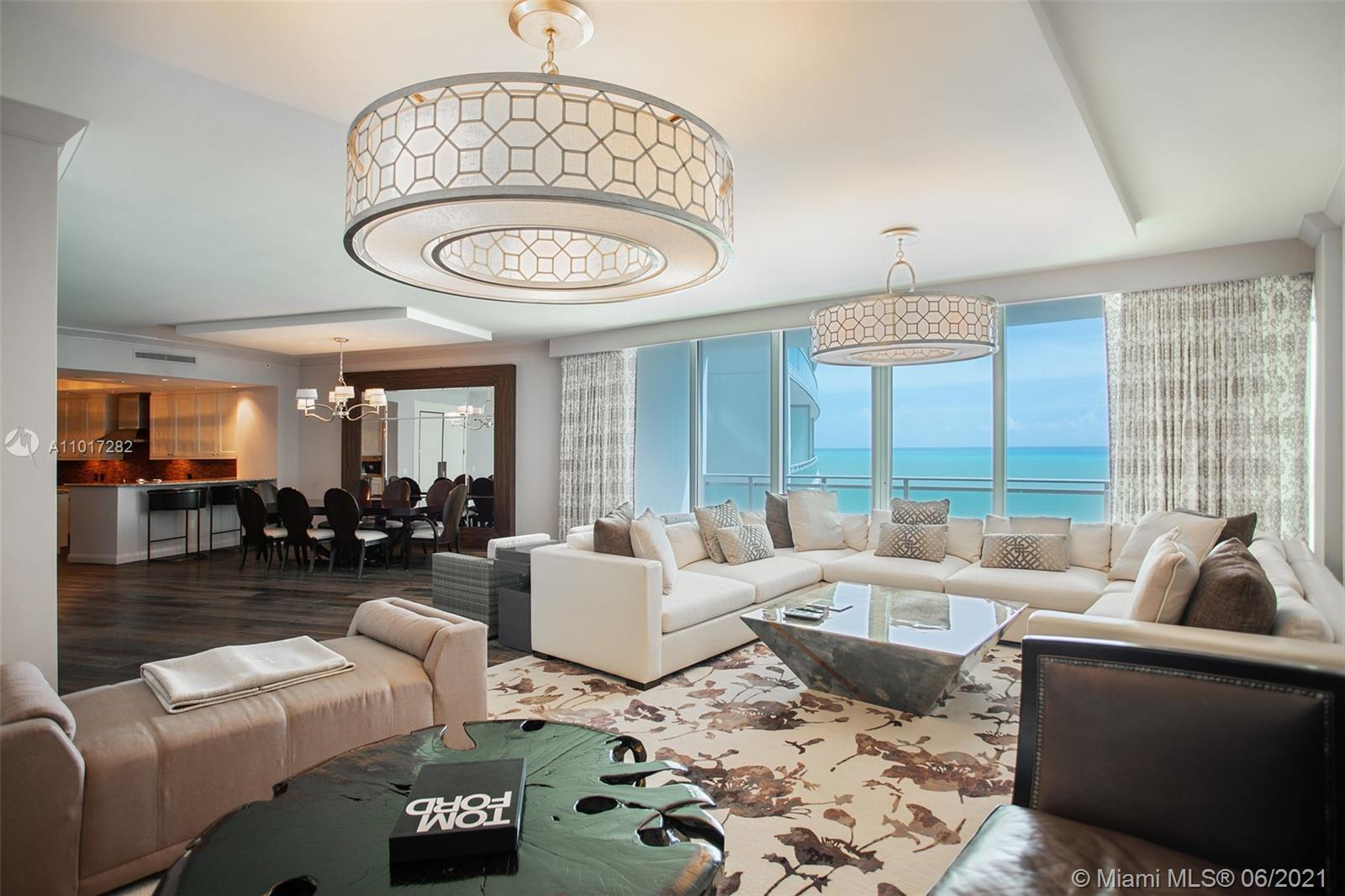 Beautiful 3 bedroom 3.5  bath ocean front residence, several blocks away from Bal Harbour Shops. Rit