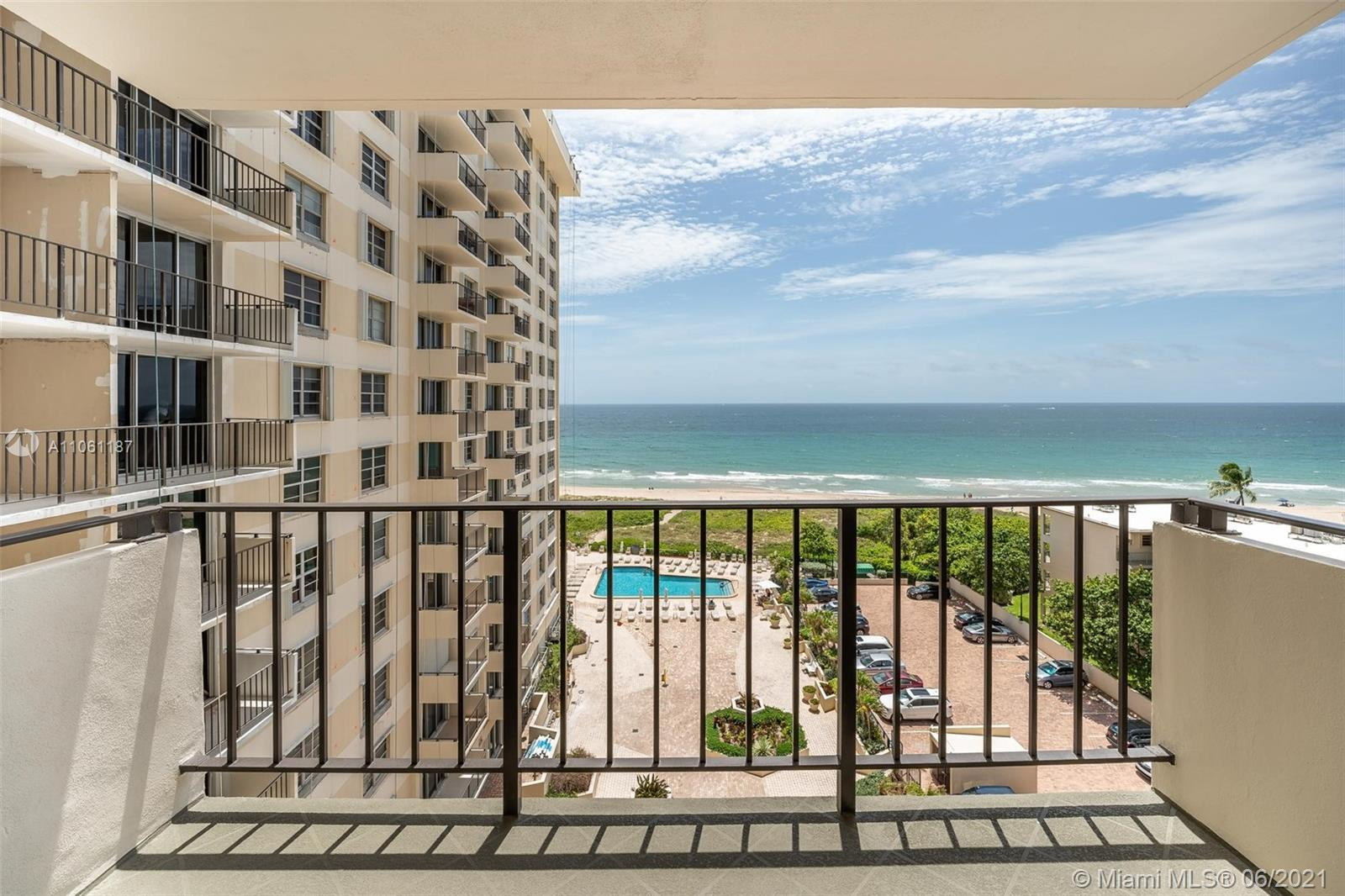 Beach Life at its best! Lauderdale by the Sea condo with direct ocean views.  2 bedroom 2 bathroom –