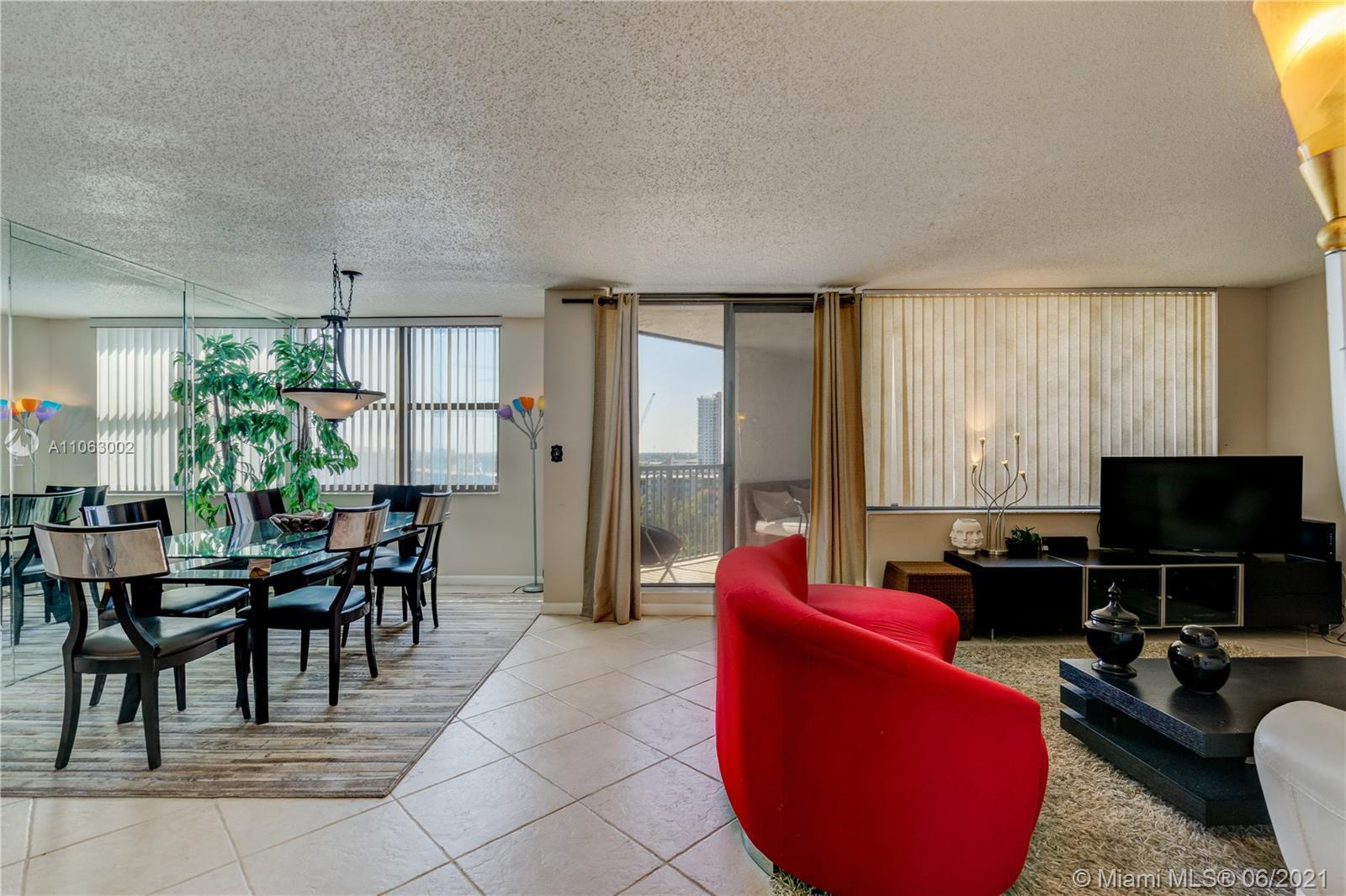 This 11th-floor unit has beautiful west views of the Sunset. This Lovely and Spacious One Bedroom an