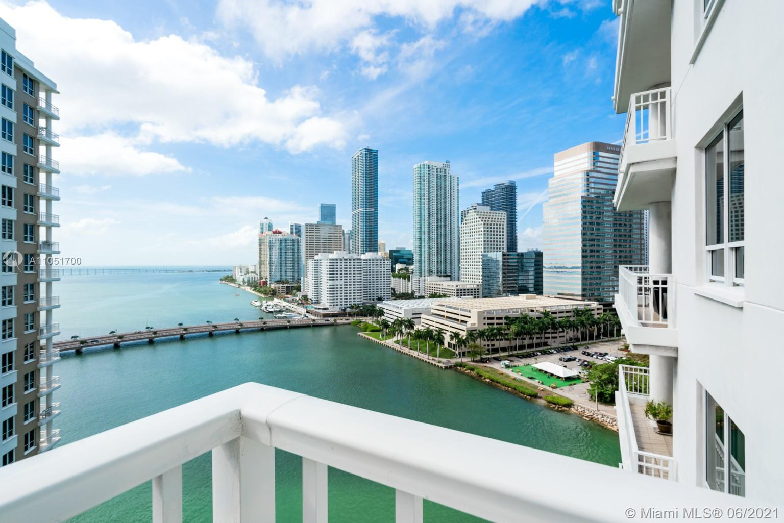 Unique opportunity! 3 bedrooms, 3 full bathrooms spacious unit located on the desirable Brickell Key
