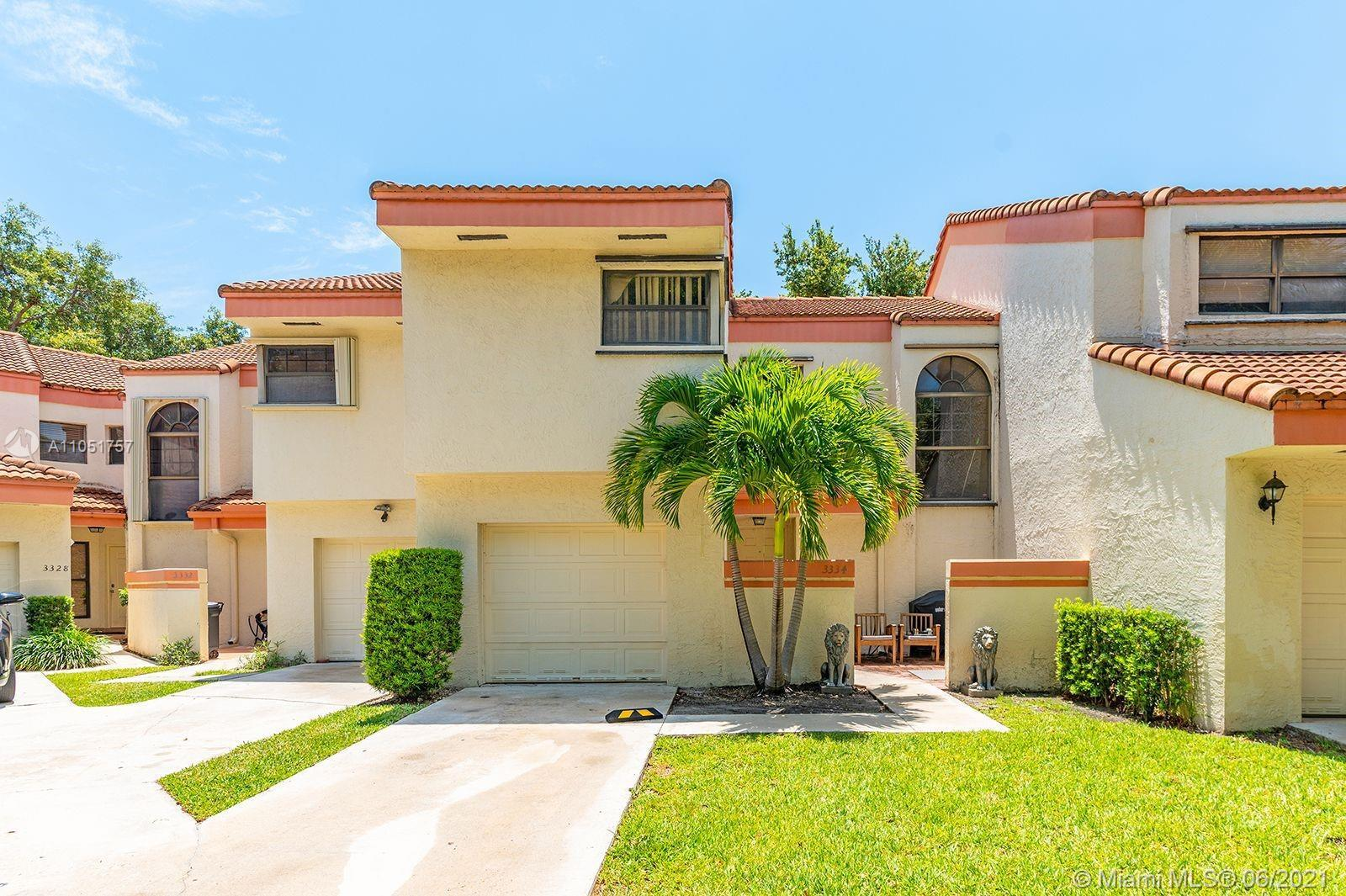 Sought after townhouse in upscale neighborhood of Emerald Hills featuring a 2 bedroom 2 1/2 bathroom