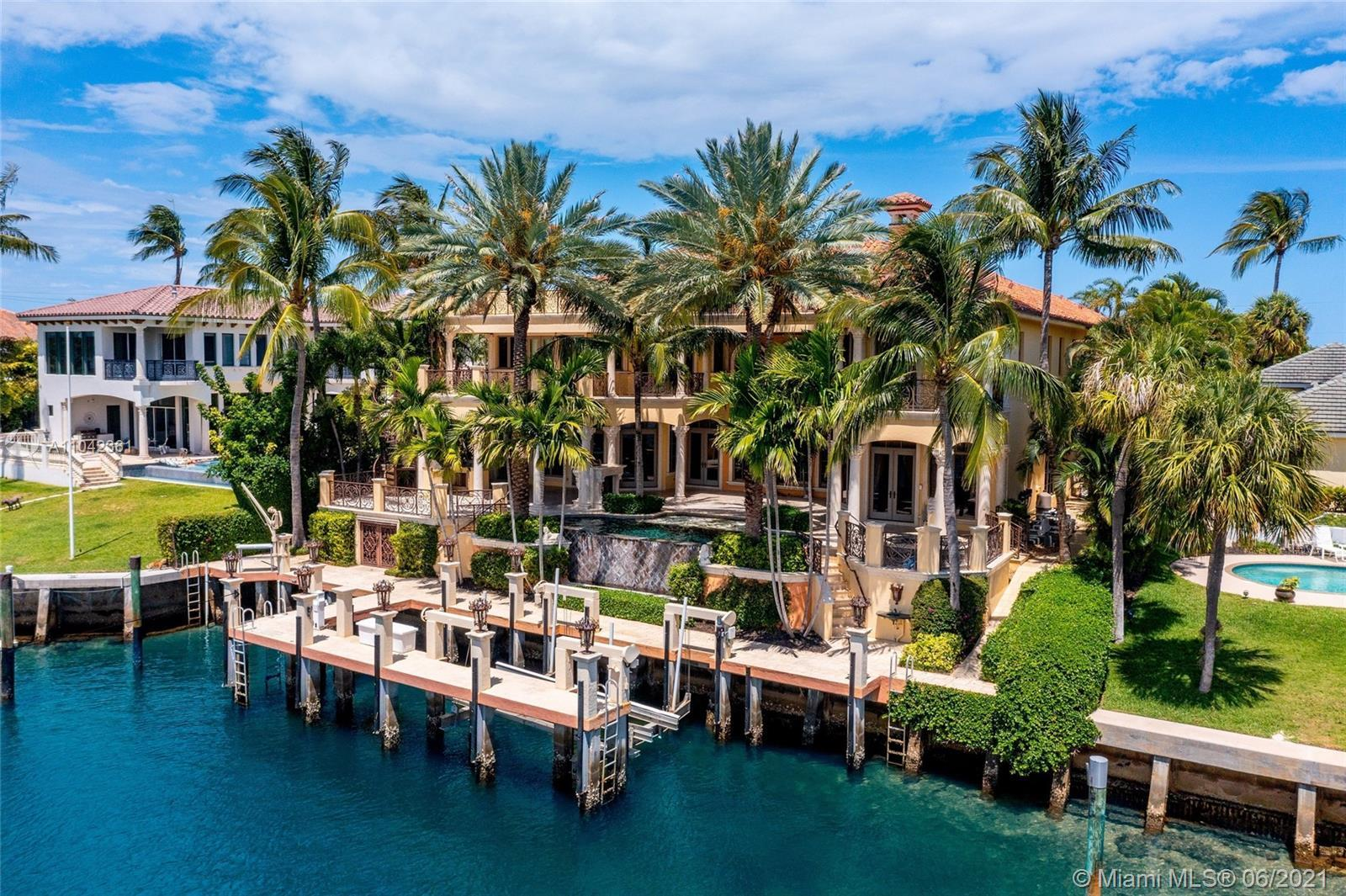Remarkable Direct Intracoastal Estate located in One of the Most Sought After No Wake Zone Waterways