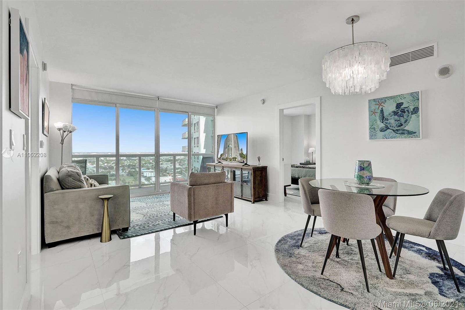 Substantially remodeled luxurious unit on the 28th floor  at the 1800 Club Condo  in the heart of Ed
