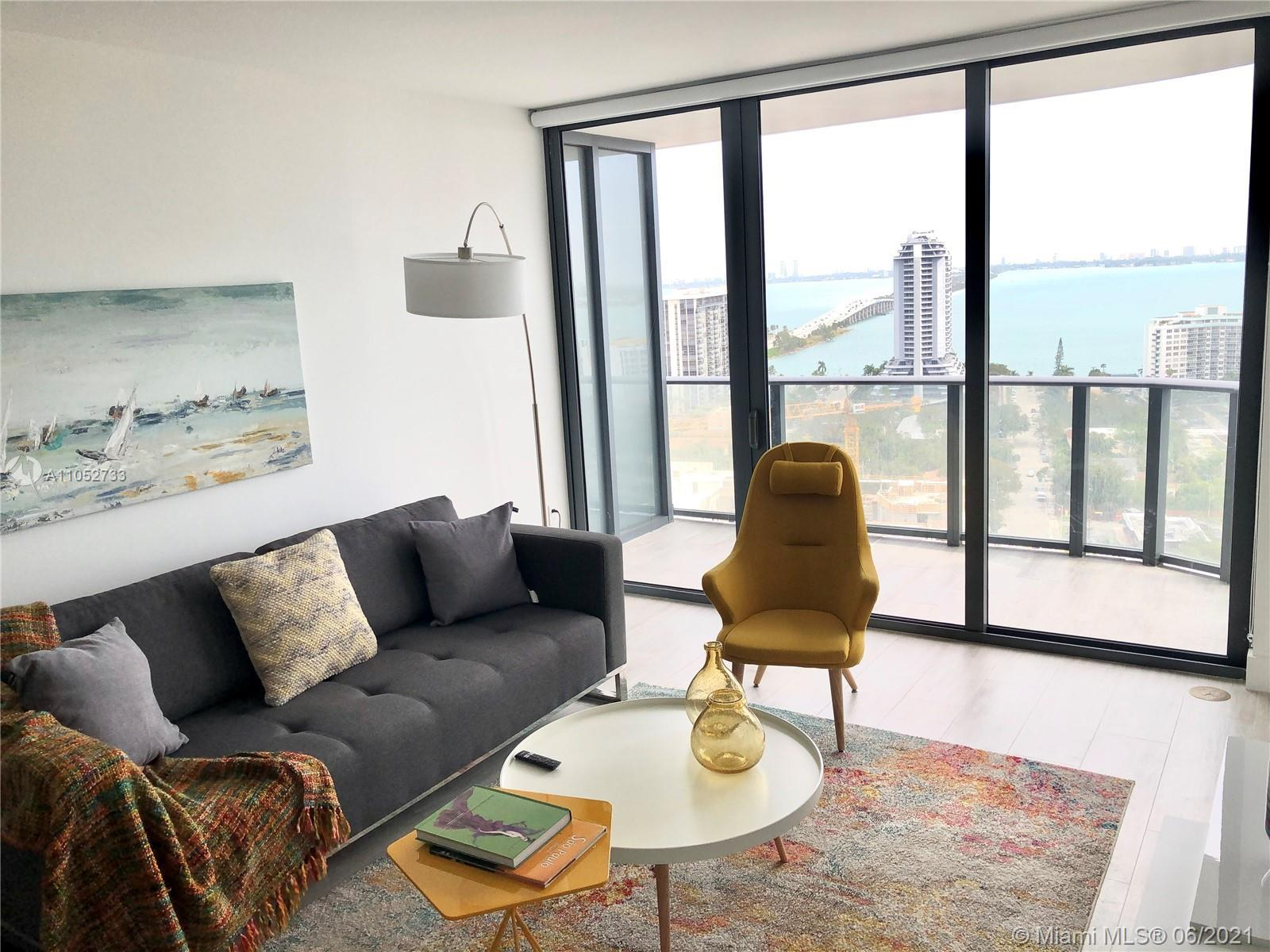Tastefully FURNISHED 1 Bed + Den apartment in highly desired Hyde Suites & Residences in Midtown Mia