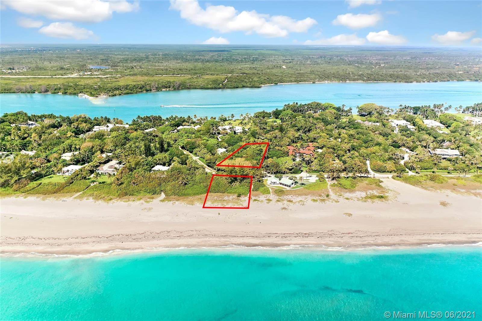 Build Your Dream Home on Jupiter Island! Nestled in the prestigious 400 Block of S. Beach Rd, this h
