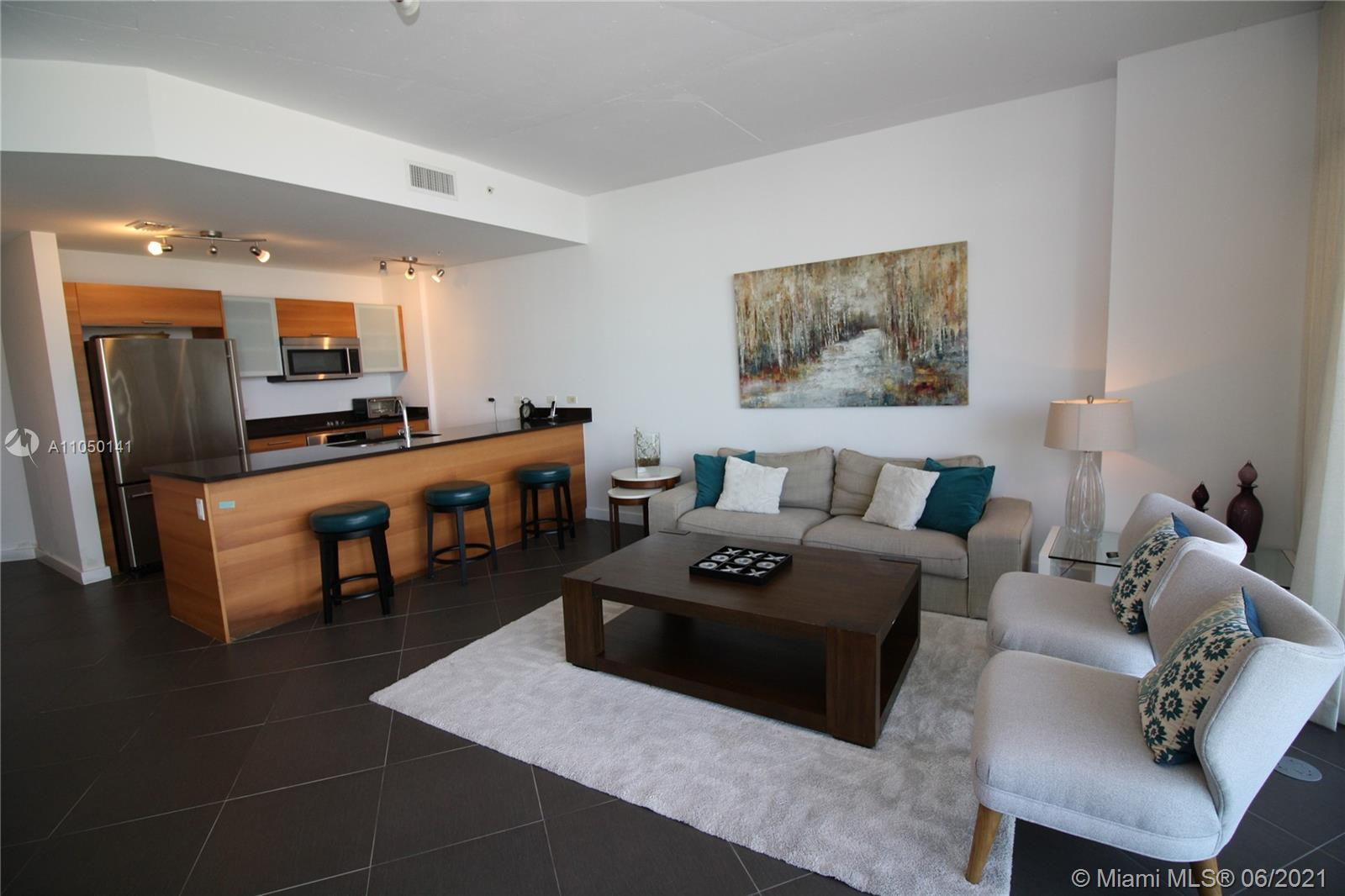Highly-desired 09 line at 4 Midtown. Great floor plan, oversized balcony and unobstructed city and s