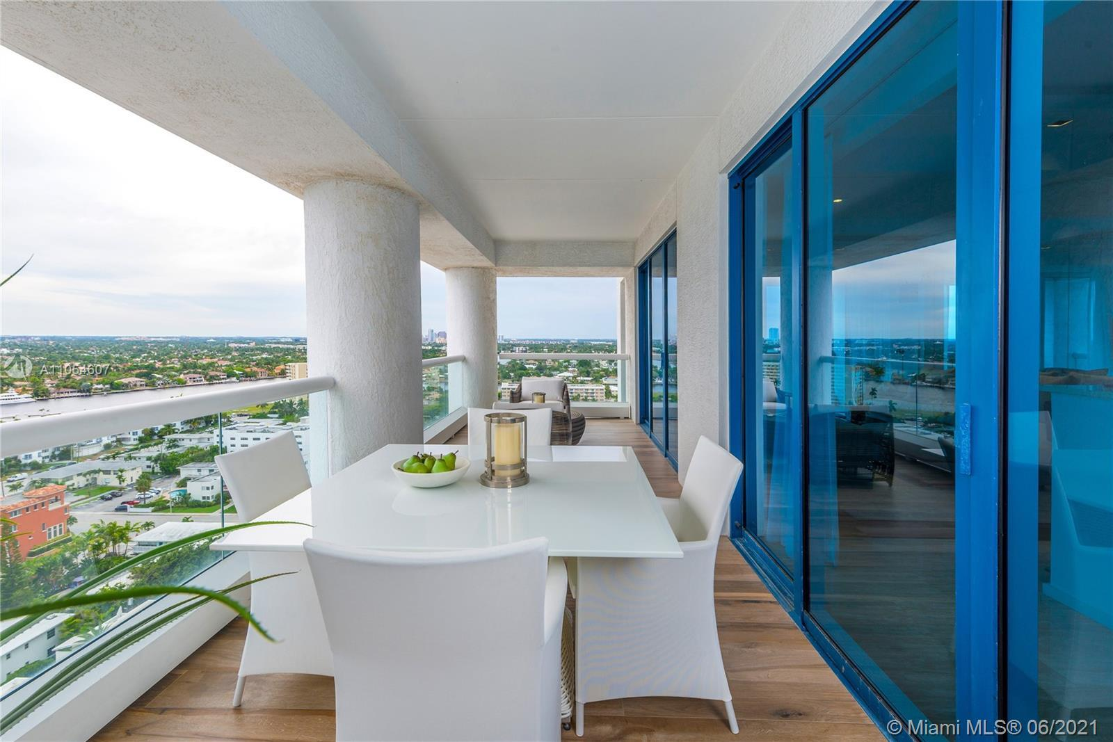 Amazing SW corner 2/2 with a huge terrace! Completely furnished and finished, this unit at The Ocean