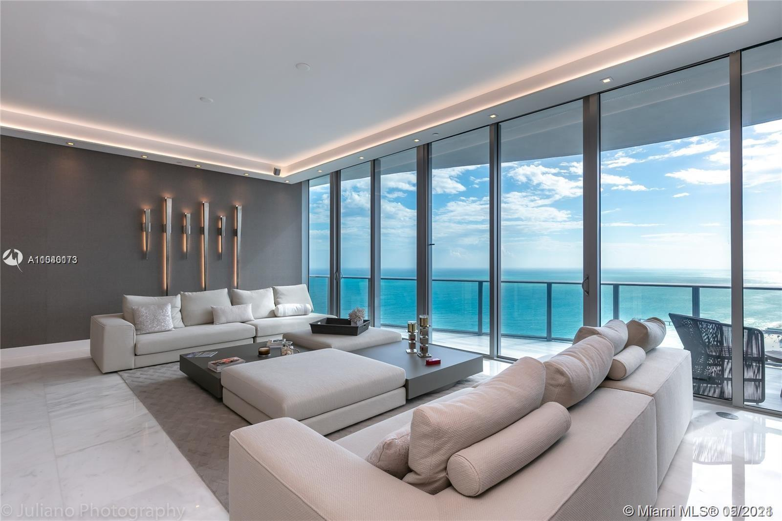 """Enjoy Ocean & Sunset Views from this Elegant Residence designed by """"Lineaire Designs"""". Private eleva"""