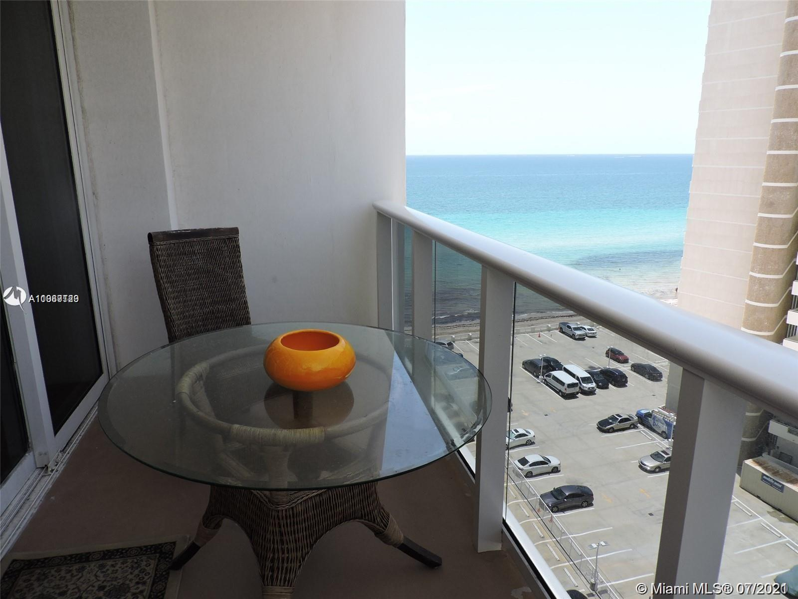 Remodeled unit with a great view to Ocean and intracoastal, granite countertops in kitchen and hurri