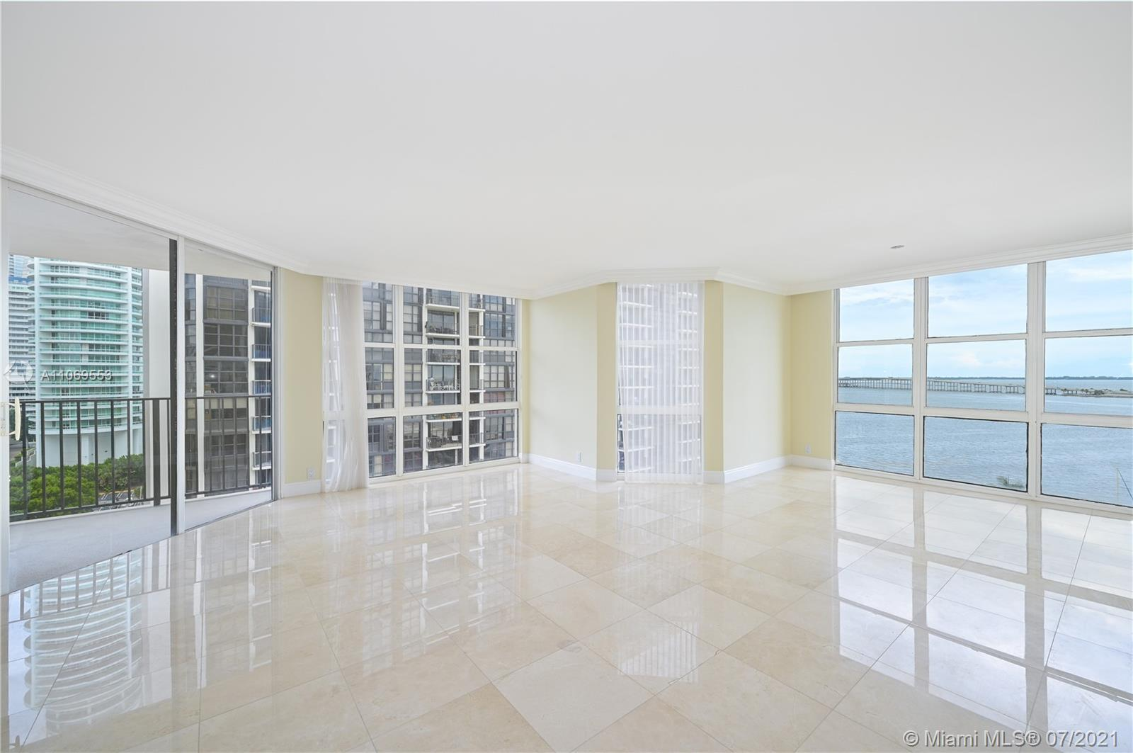 Spectacular and fully remodeled CORNER  2/2 unit with direct water views.  Lots of windows and natur