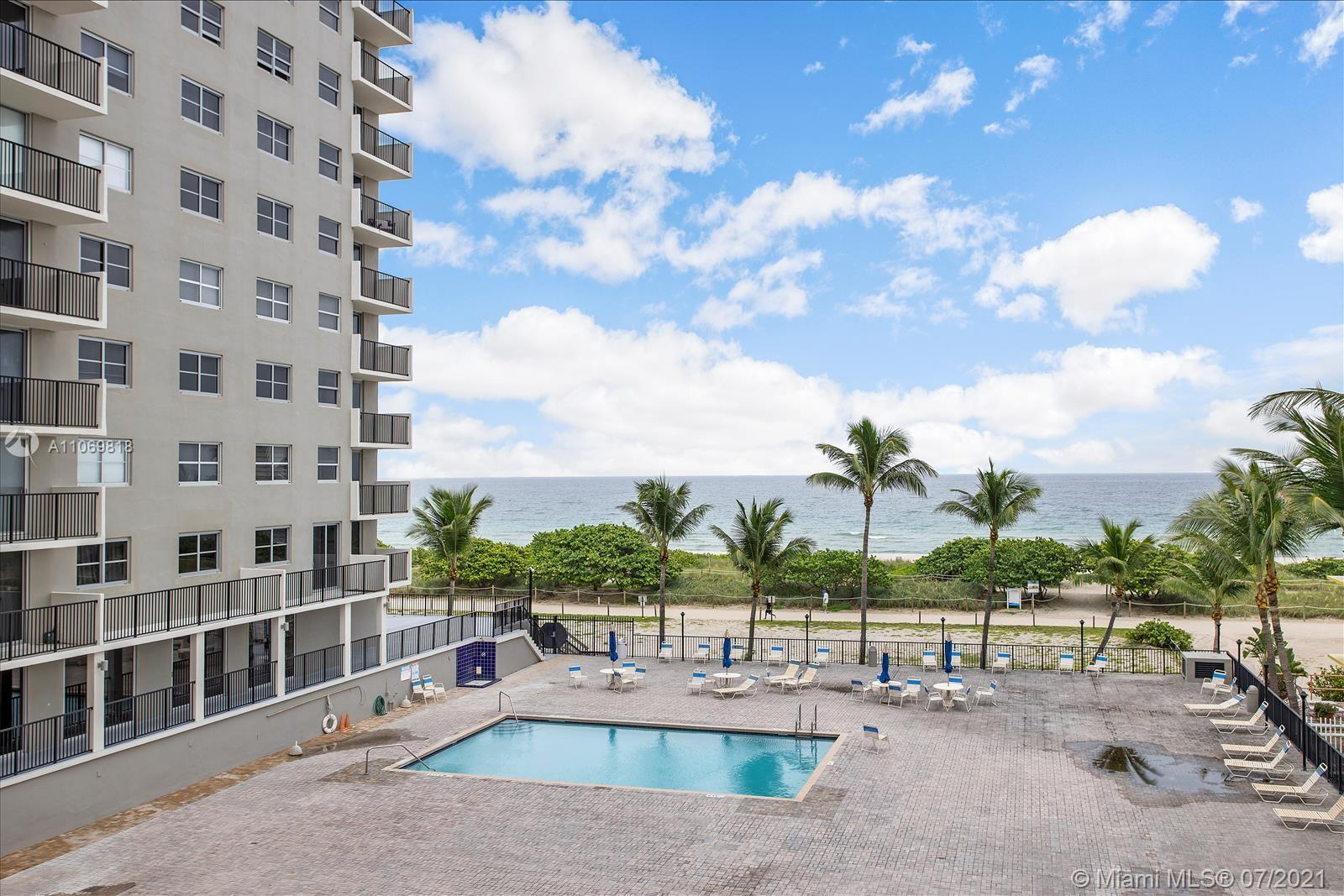 Direct ocean views from this updated unit at the Manatee condo. This corner unit is the largest floo