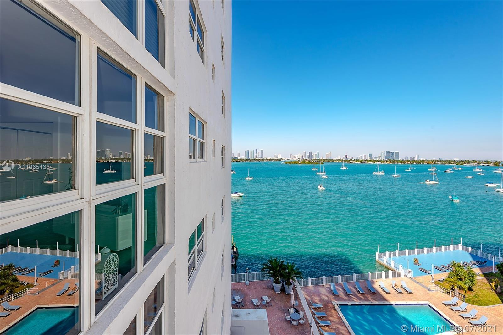 Enjoy the Bay, Downtown, and sunsets from this oversize 1 bedroom, 1.5 baths with a large den, locat