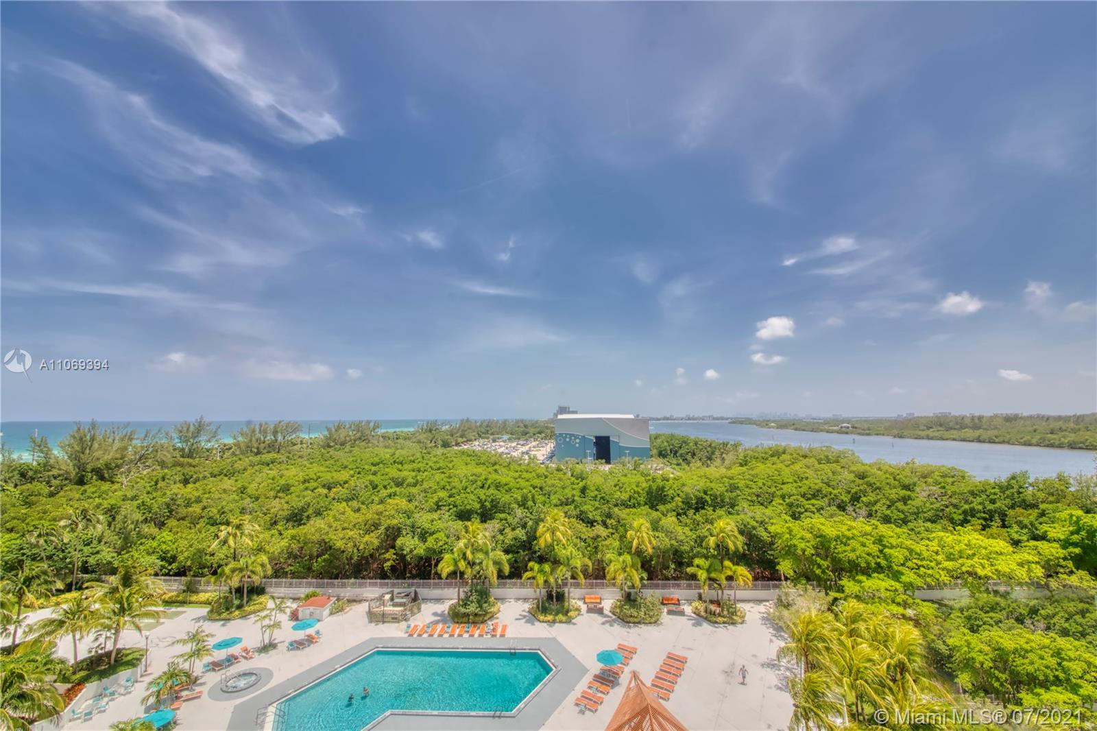 Magnificent views of the Bay, Pool & Ocean from this beautiful 2Beds/2baths unit. Oversized balcony