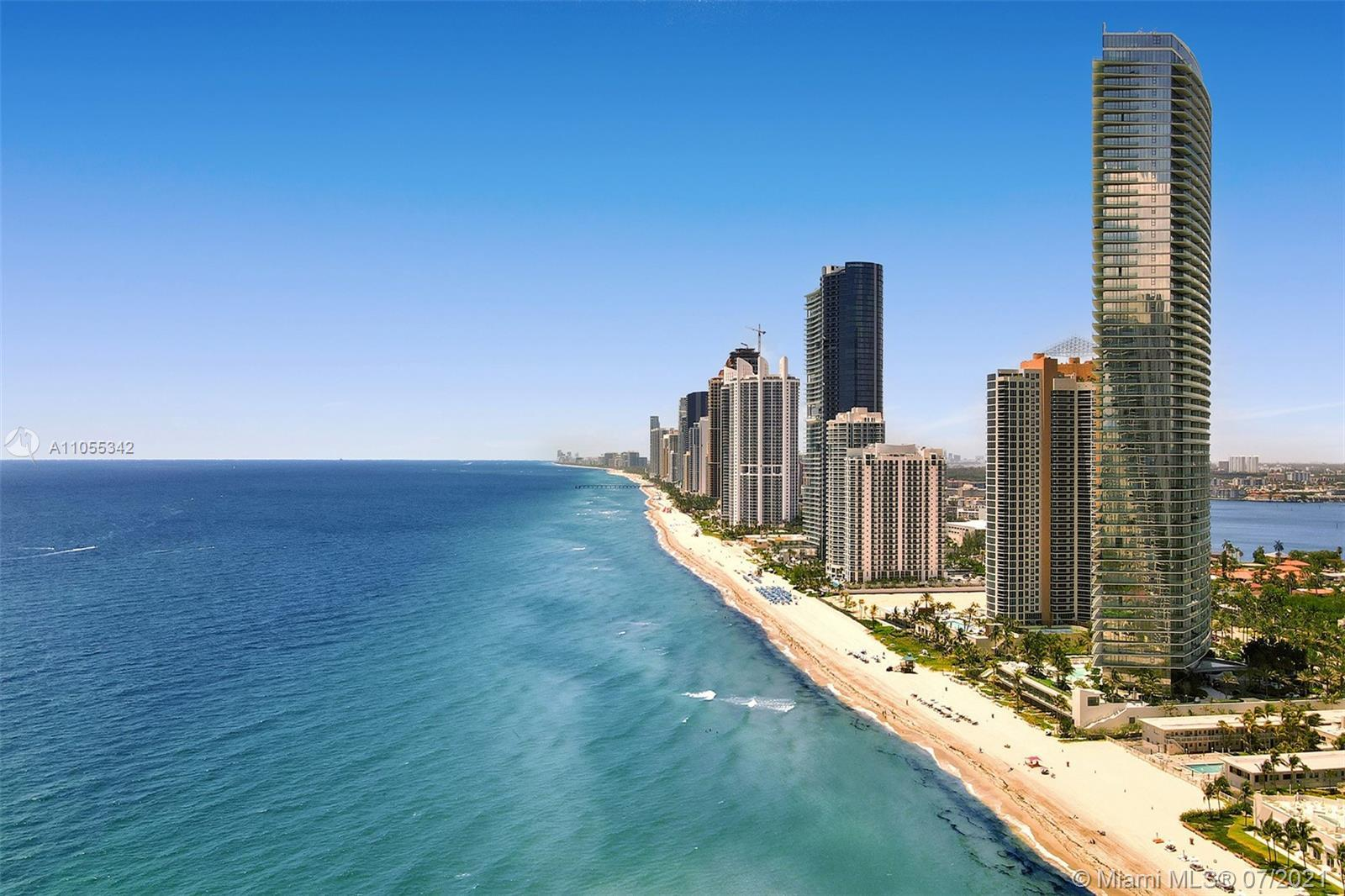 """Oceanfront w/private beach """"Residences by Armani Casa"""" southern corner unit exposure 2B/2B almost 15"""