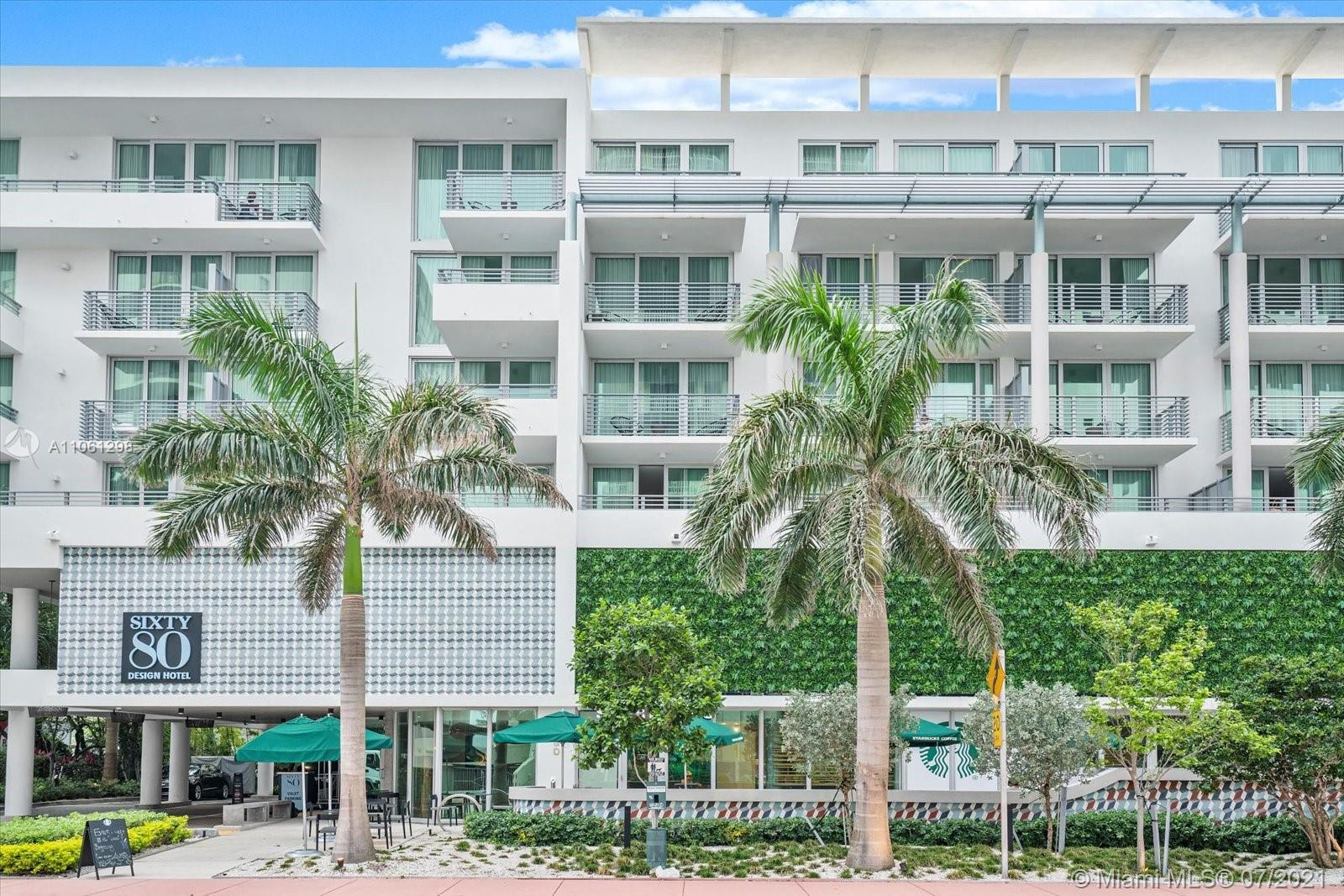 Come and experience living at Sixty80 Design Hotel Residences at Miami Beach. Unit 505 is a sub-pent