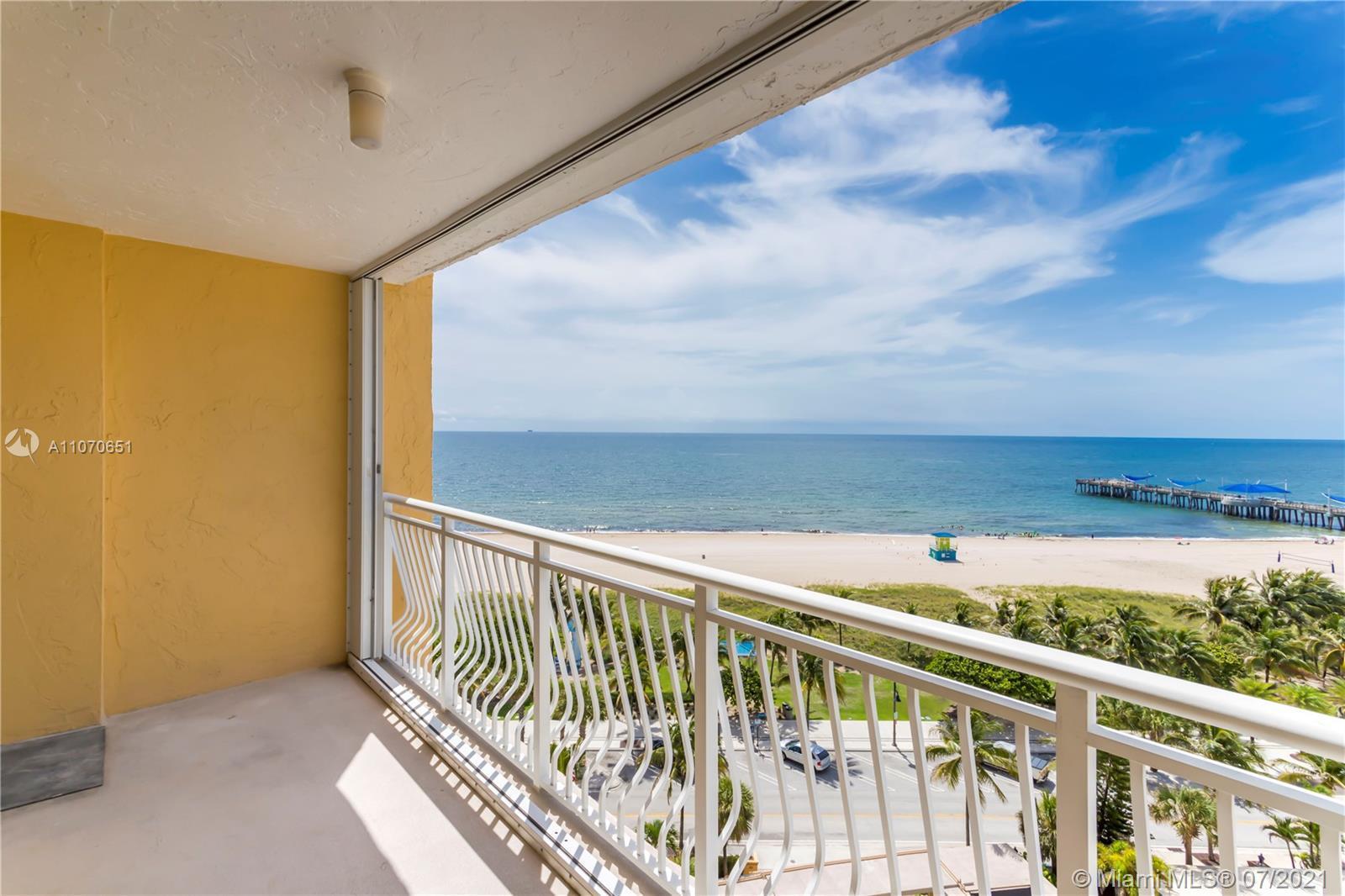 Direct Ocean front, spacious 2BR/2B condo,  located in prime Pompano Beach, in the charming 'Bermuda