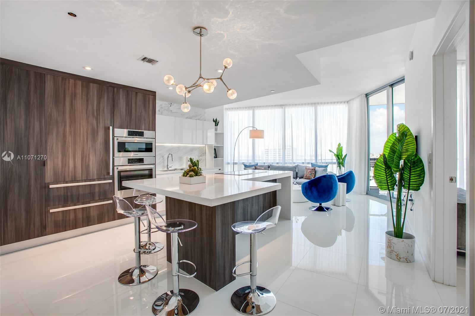 Luxury 1 Bed + Den /2 bath Residential Condo at the Miami World Center with 10 Foot ceilings and pri