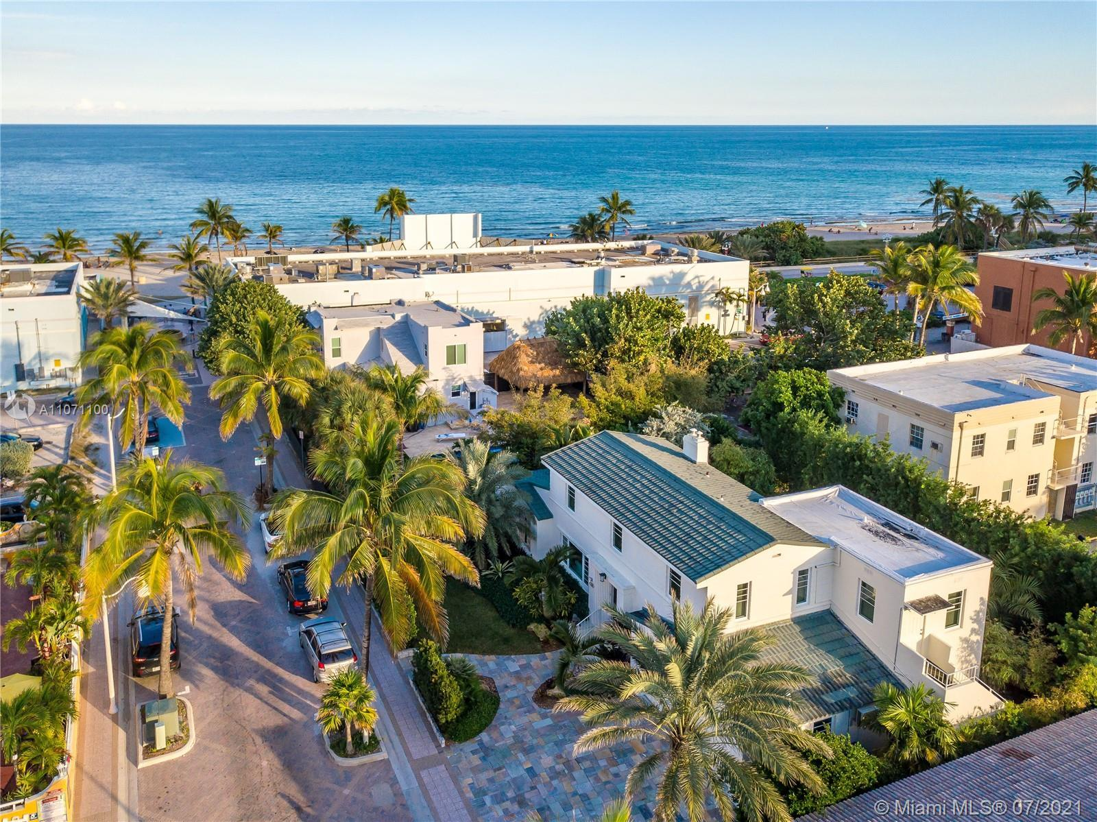 The gem of Hollywood Beach! This gorgeous updated 3 BED/ 3 BA, air conditioned2 car garage residenc