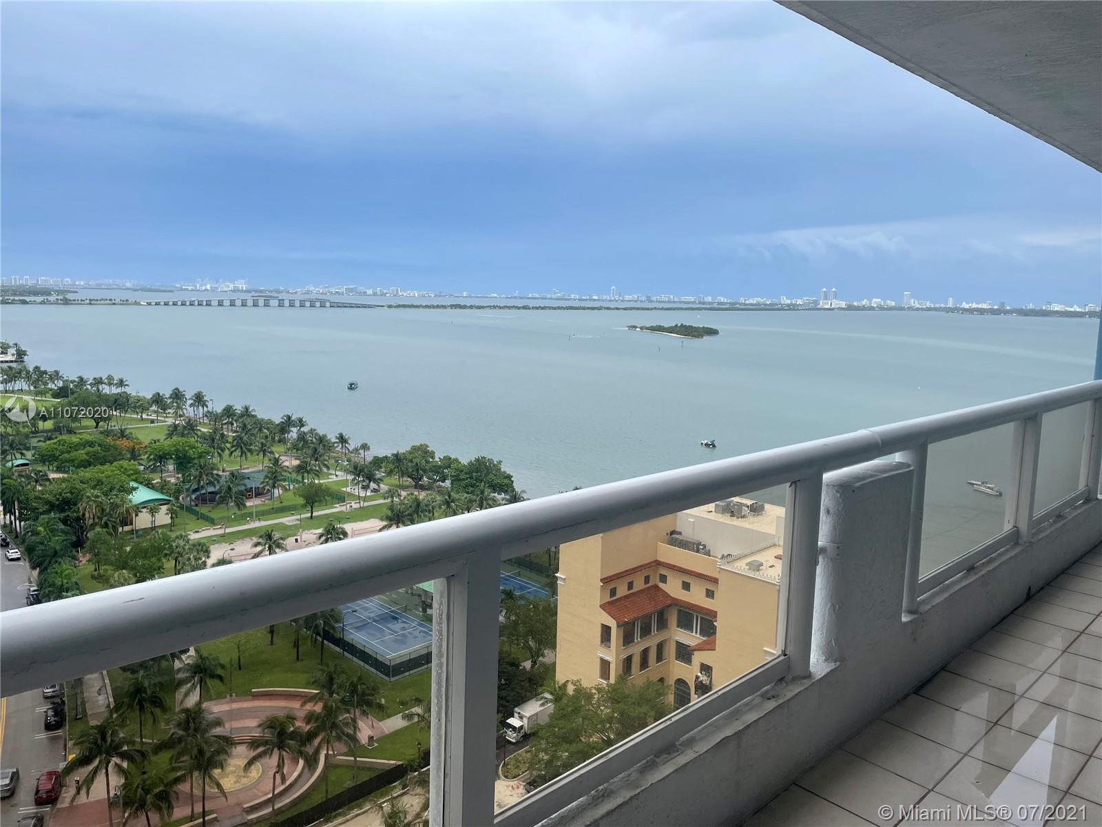 Renovated 1 Bedroom 1.5 bath with views of Biscayne Bay. The condo has newly installed High Impact W