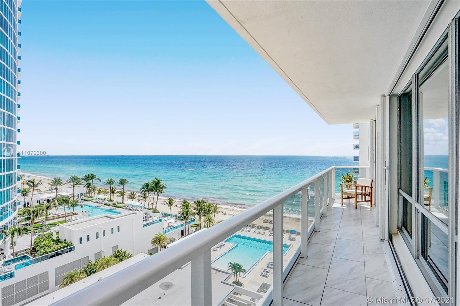 Rarely available, spacious corner residence with a stunning Ocean and Intracoastal views finally ava