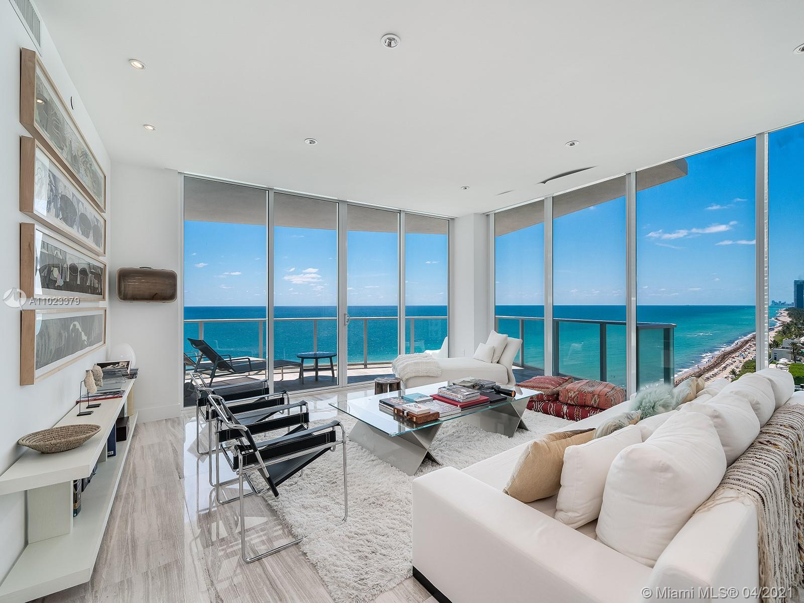 This oceanfront residence at Apogee Beach Hollywood was custom-designed by the developer with signif