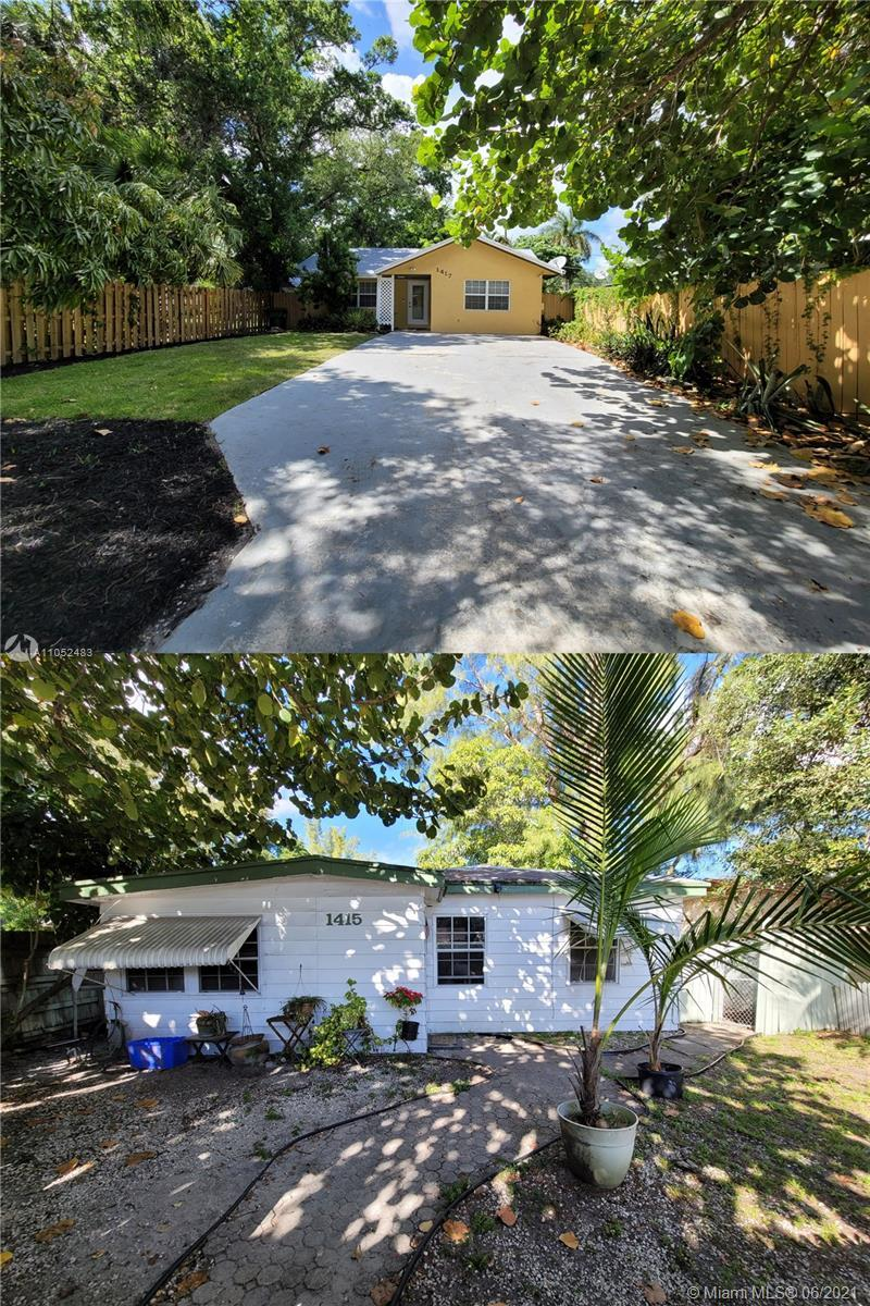 2 HOUSES on ONE parcel! 1415 & 1417 are only sold together! These properties sit adjacent to each ot