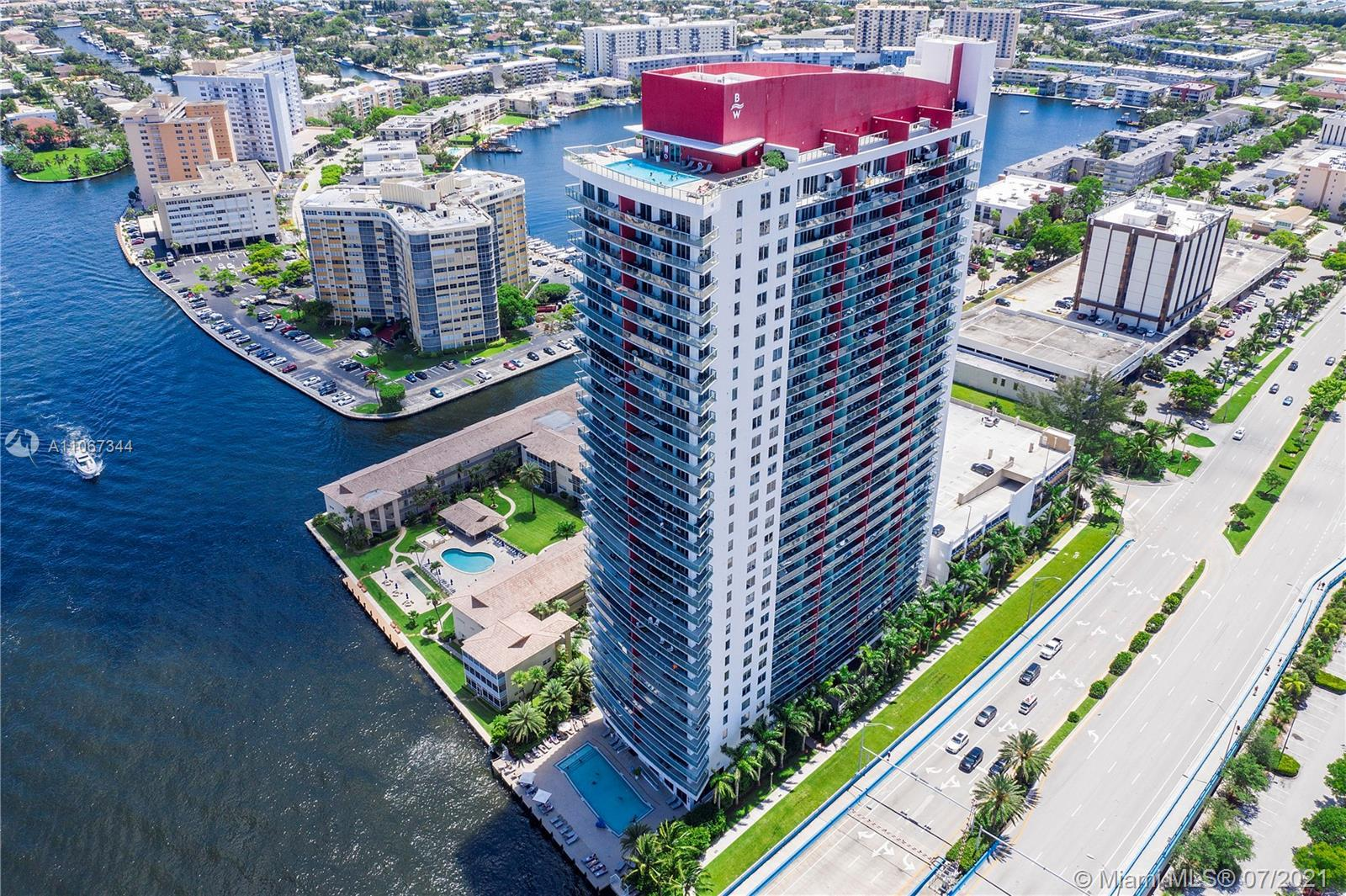 WOW! Fully Furnished Double (2-Bed, 2-Bath) Unit Condo At The Beachwalk Resort In Hallandale Beach W