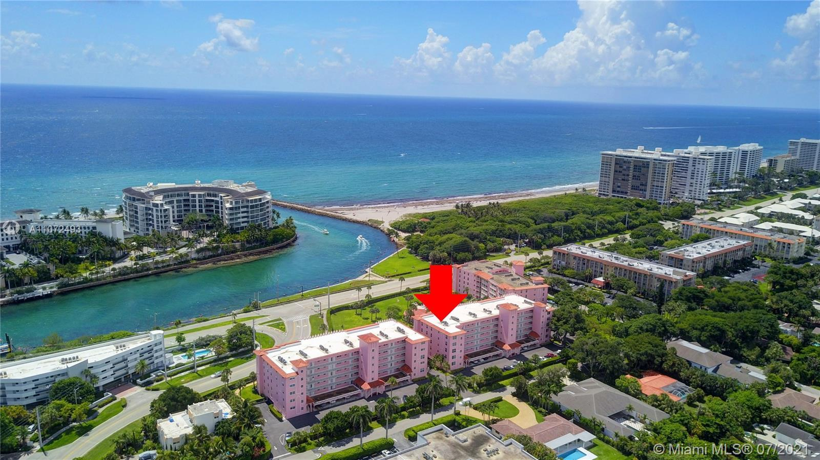 Million dollar views of the Boca Inlet and Ocean.  Largest 3 bedroom 2.5 bath oasis with gorgeous 33