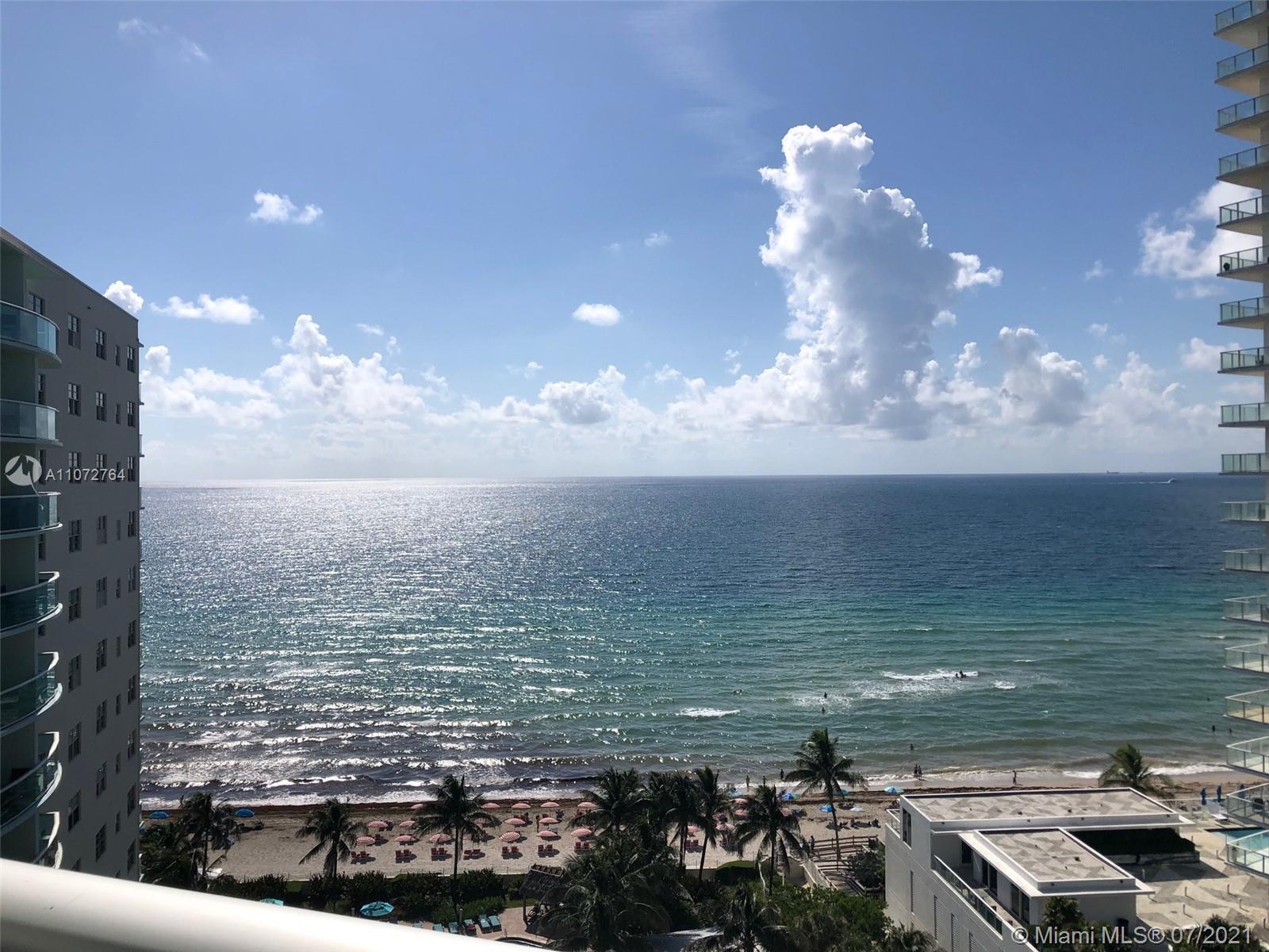 SUPER HOT RESORT LOCATION ON HOLLYWOOD BEACH.1BR/1BA 874SF. 14TH FLOOR.THE BEST  DIRECT EAST OCEAN &