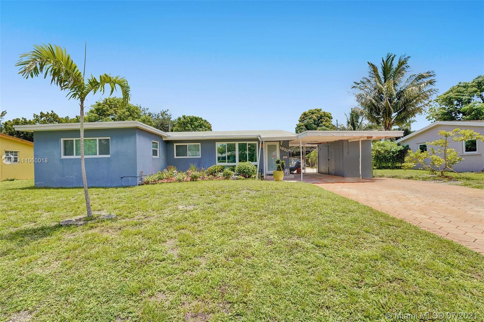 Charming residence with 4beds /2.baths and pool situated in the HEART of Fort Laderdale /441.This ho