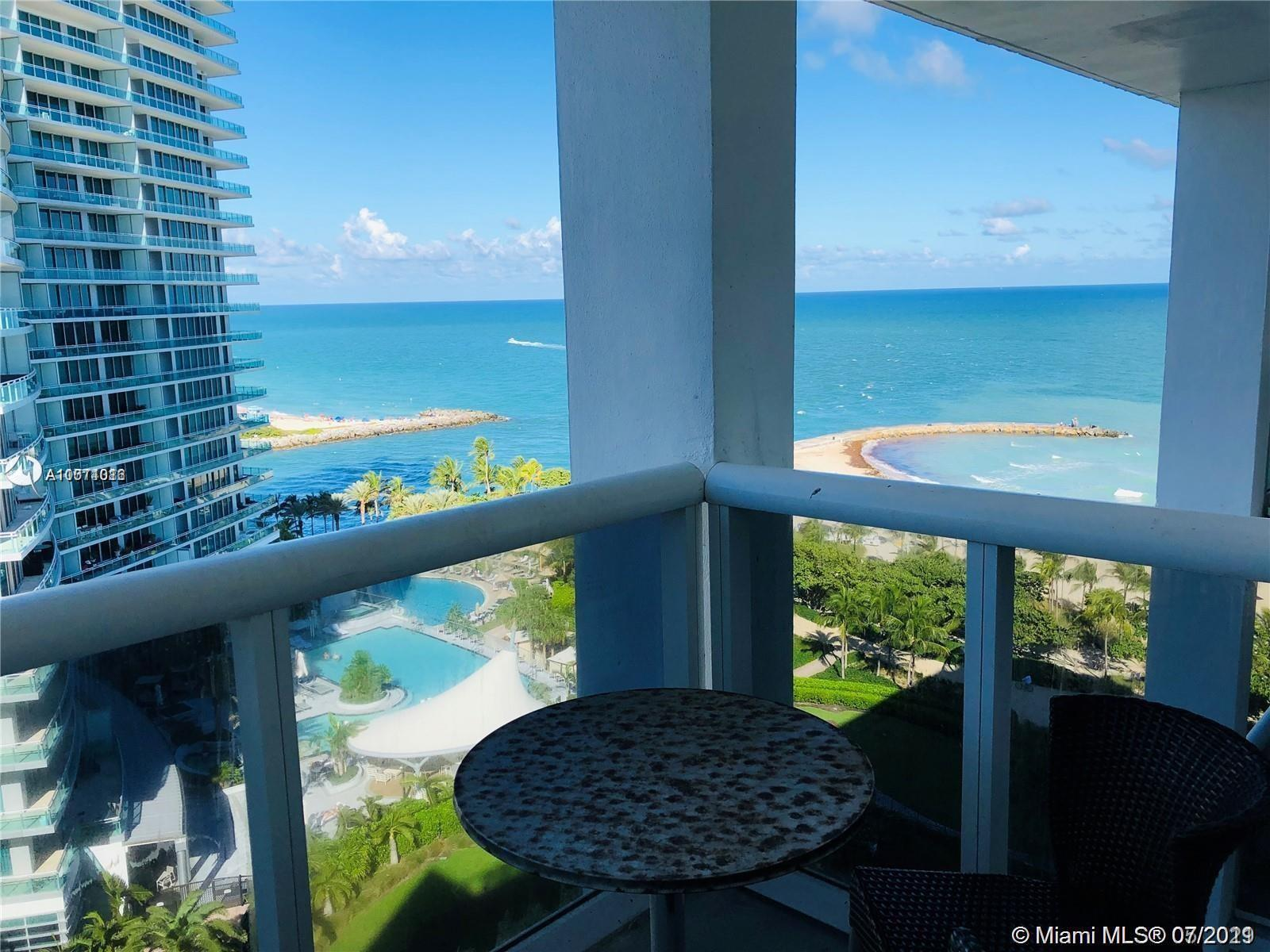 Amazing!!ocean front views from balcony and living room studio apartment, with electric blinds and f