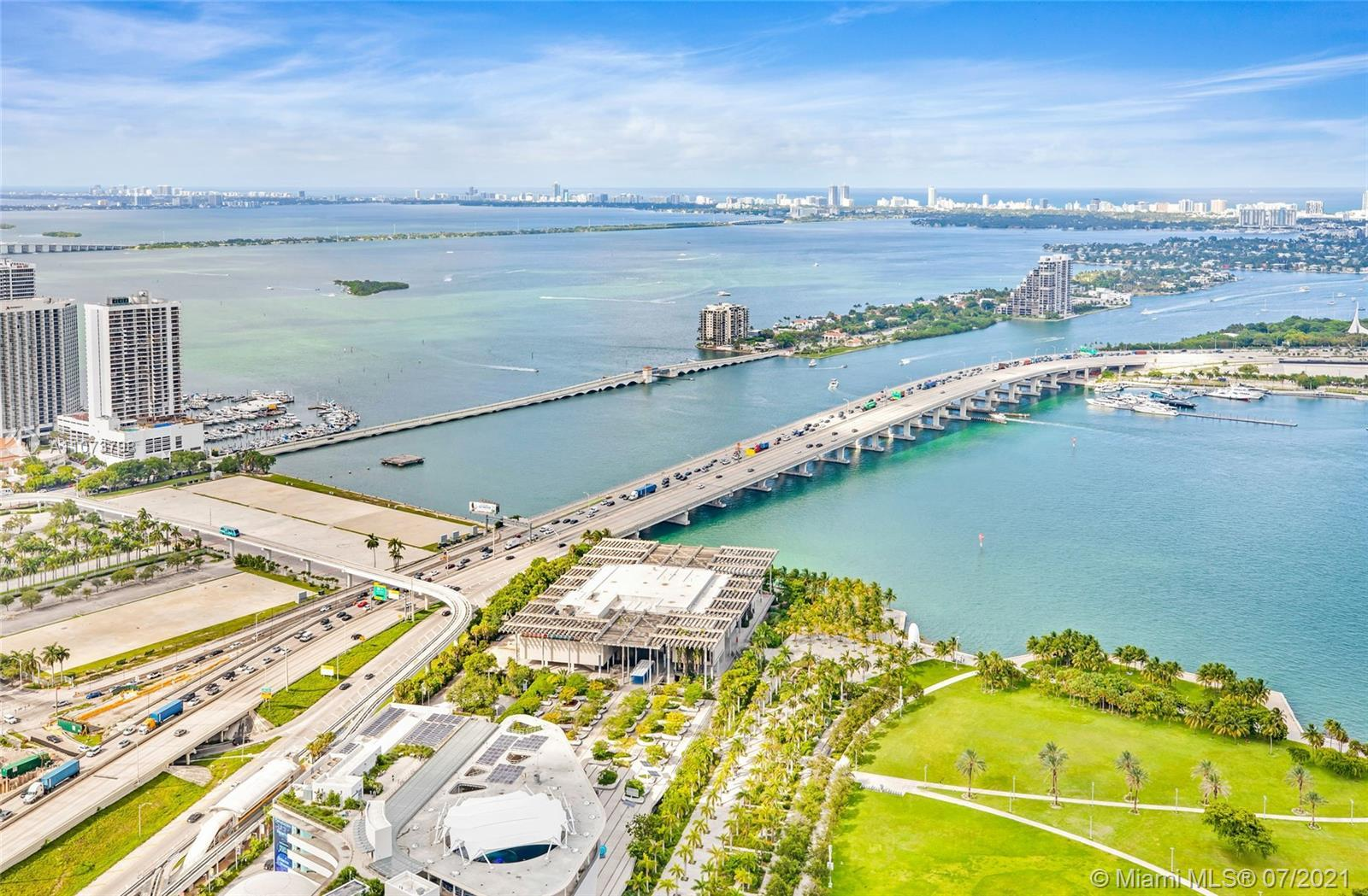 Breathtaking never-ending views of Biscayne Bay , Port of Miami , Key Biscayne , Fisher Island , Mia