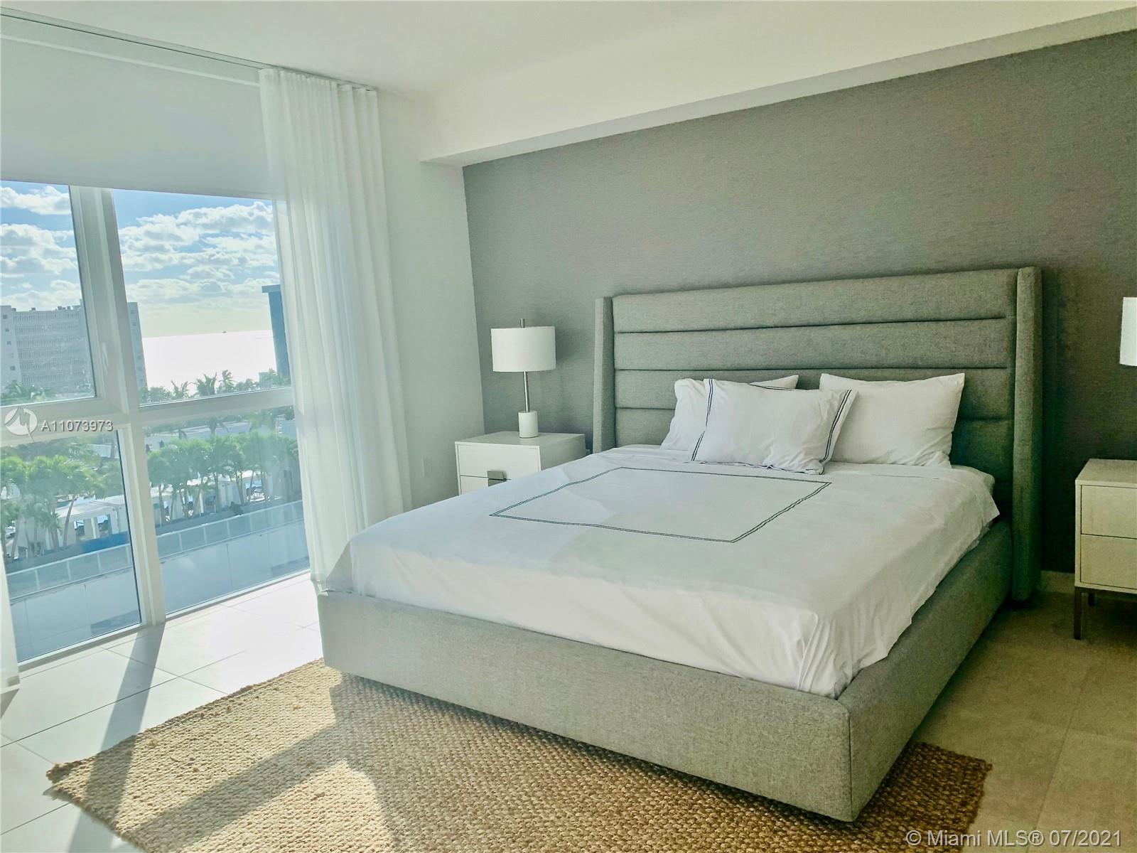 Spectacular corner 2 bedroom high floor residence fully furnished with signature designer package an