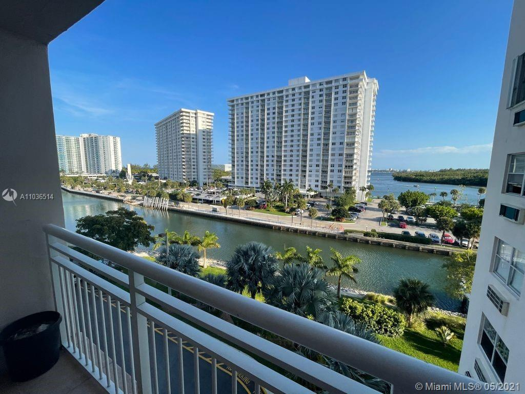 2 BED/ 2 BATH CONDO WITH SPECTACULAR WATER VIEWS IN WONDERFUL SUNNY ISLES BLOCKS AWAY FROM THE BEACH