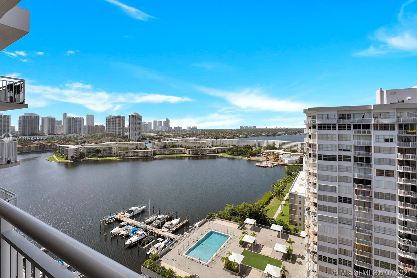 Modern 2/2 in Aventura is ready to move in! Property features ceramic tile floors throughout, update