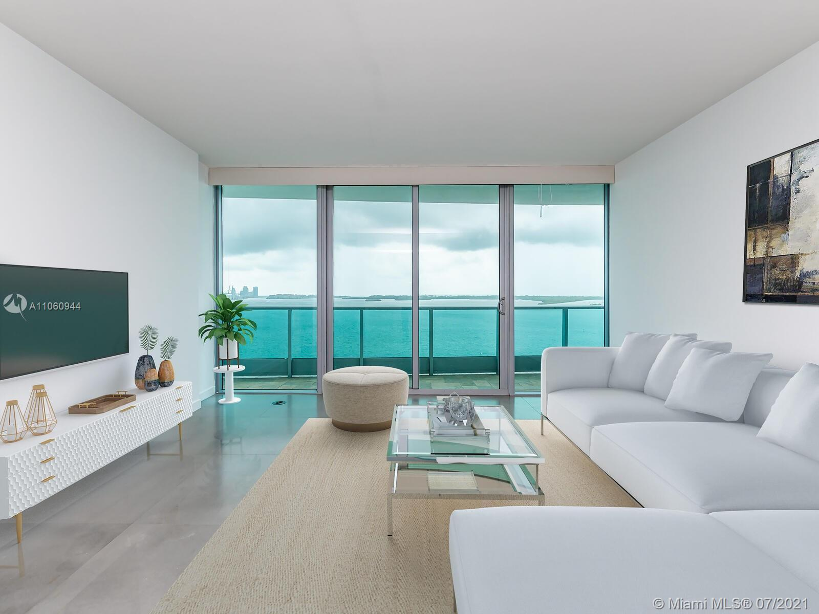 Enjoy spectacular water views from this 2bed,3bath +DEN unit with expansive balcony overlooking the