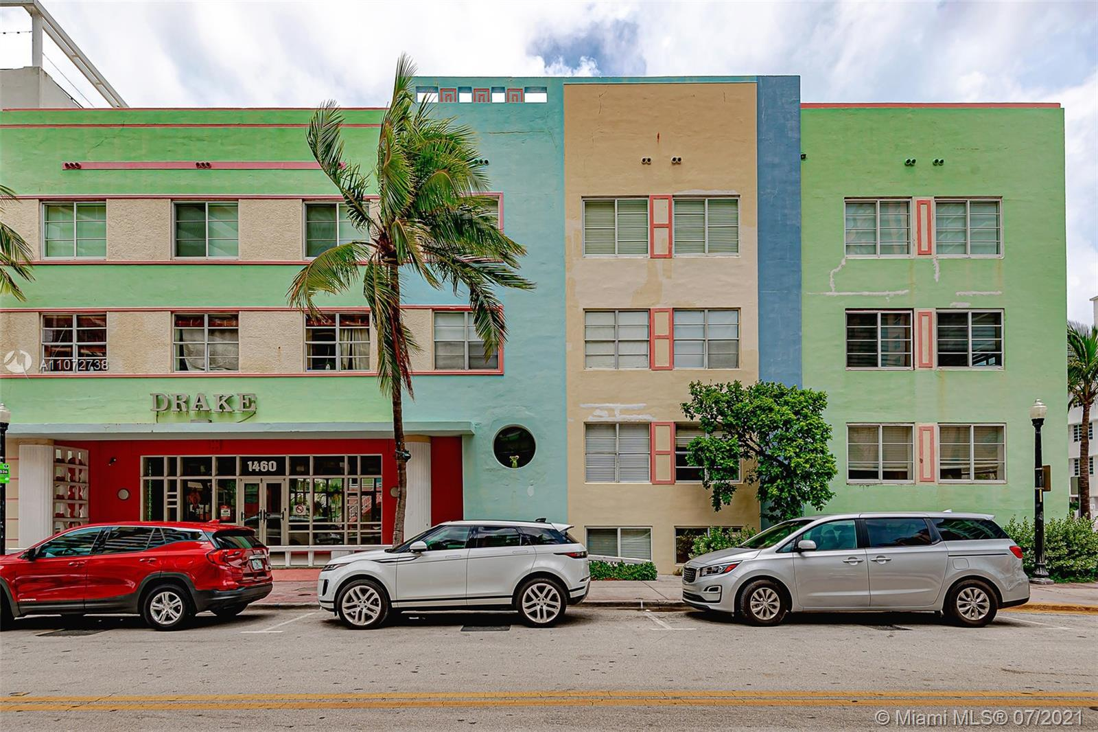 Live on world famous Ocean Drive. Spacious 2 story, 2 bedroom/ 2 bathroom unit. Full of light and di