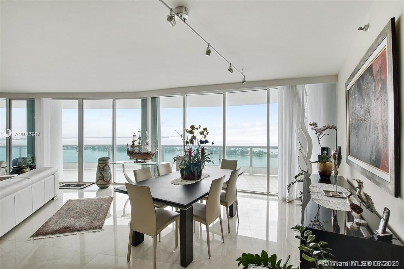 Enter through a private elevator to a spectacular 3 bedroom, 3 1/2 bath, 2,825 s/f home with hundred