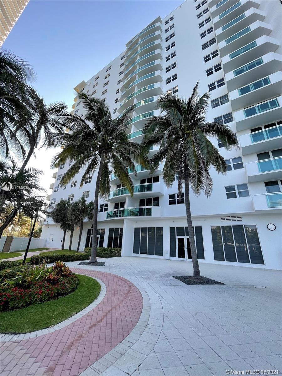 Spacious 1 bed 1 bath unit with a canal view from 14th floor. The Building is an ocean front. Great