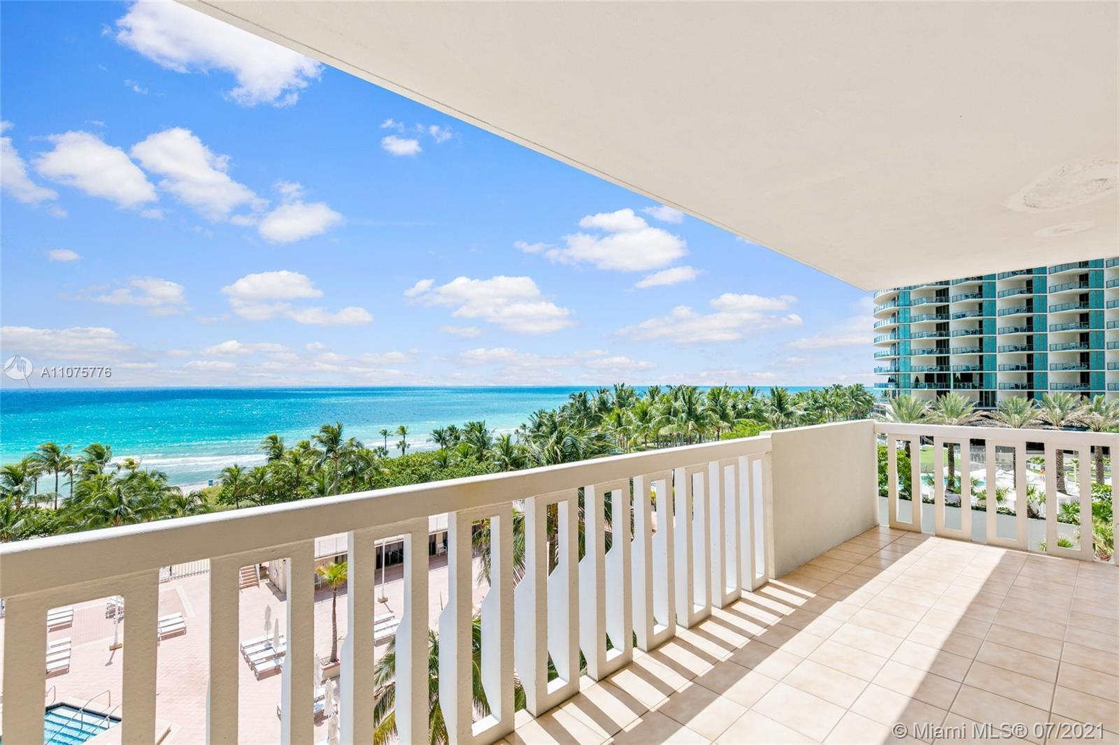 Welcome to UNIT 8Z in the iconic Balmoral of Bal Harbour. Direct ocean views from the kitchen and li
